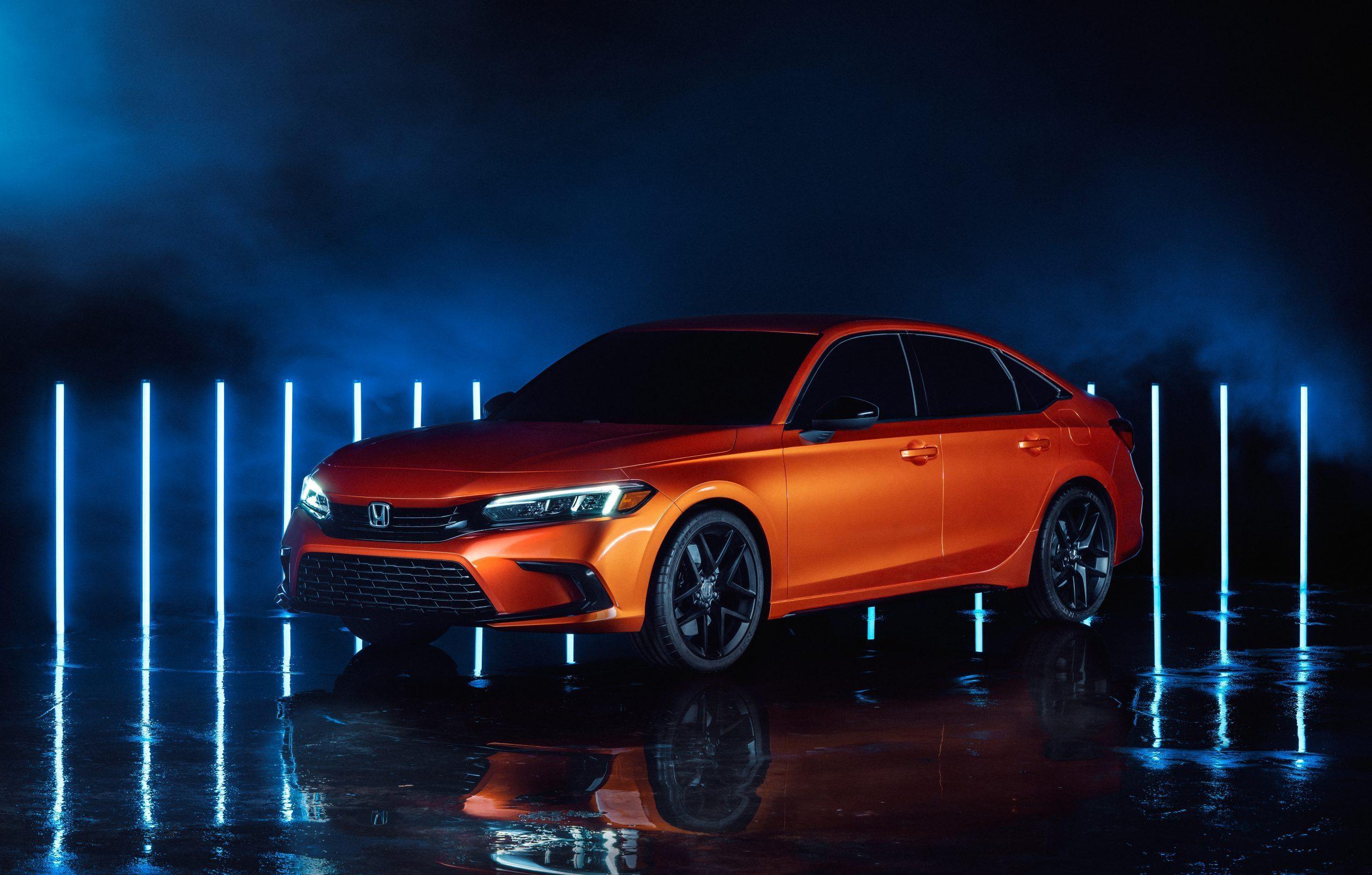 2022 Honda Civic Prototype front three quarter