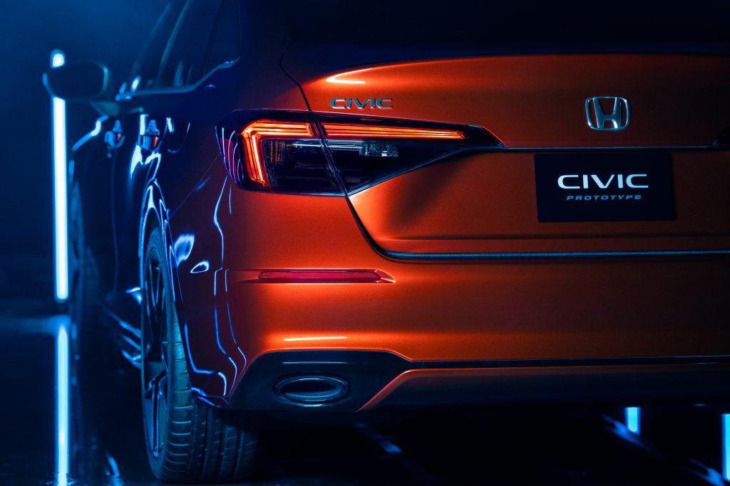 2022 Honda Civic Prototype rear tail light