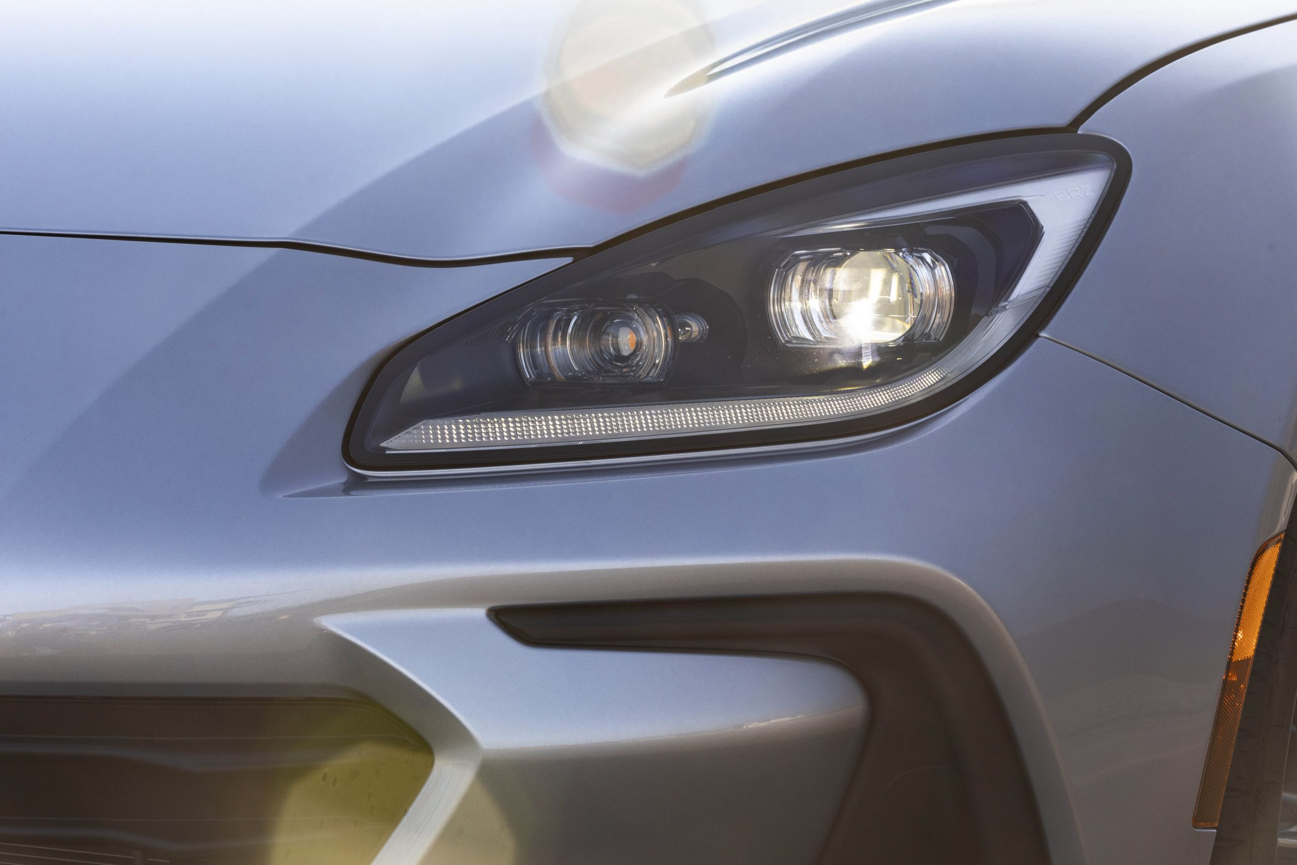 New 2022 Subaru BRZ headlight detail