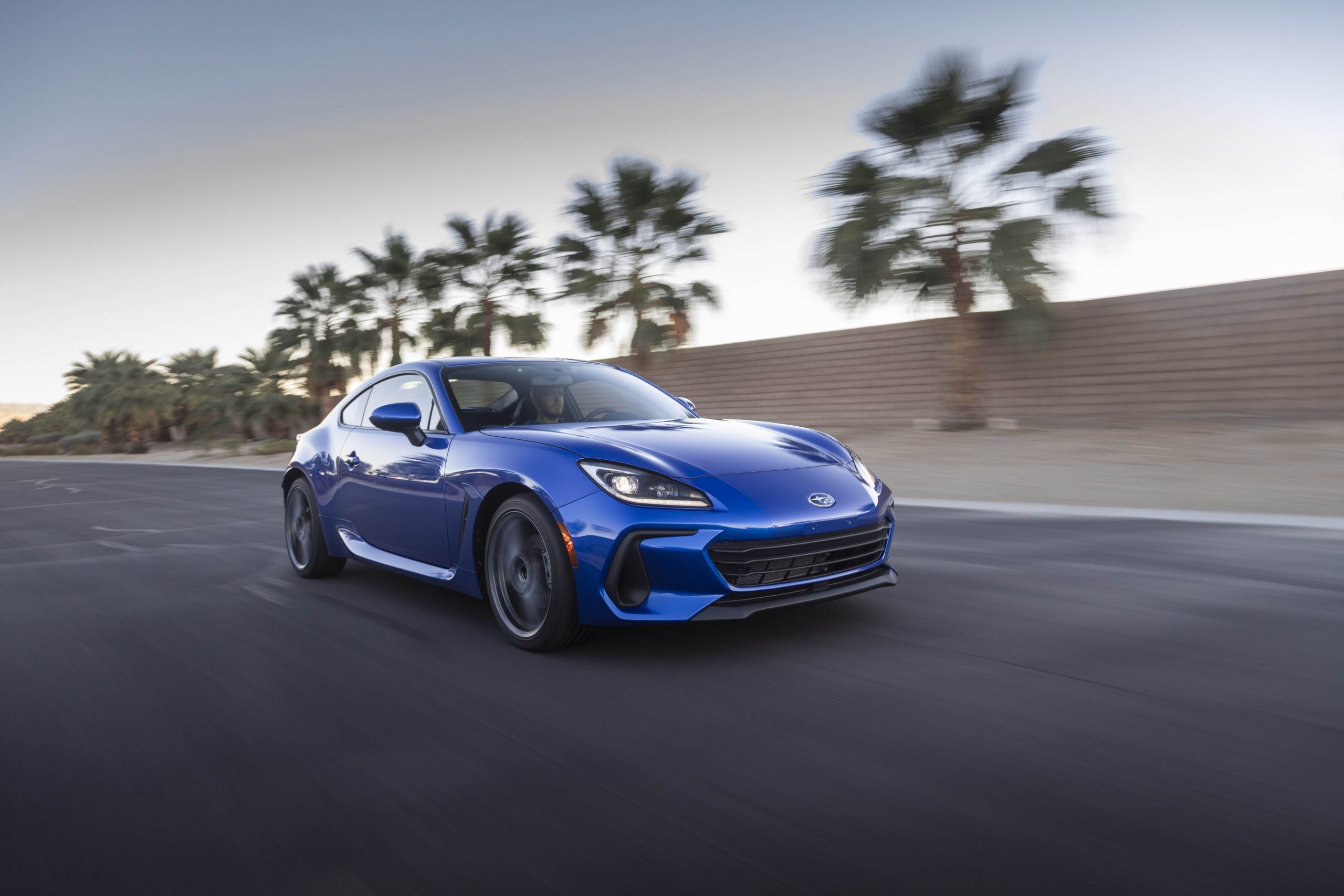 New 2022 Subaru BRZ front three-quarter road action