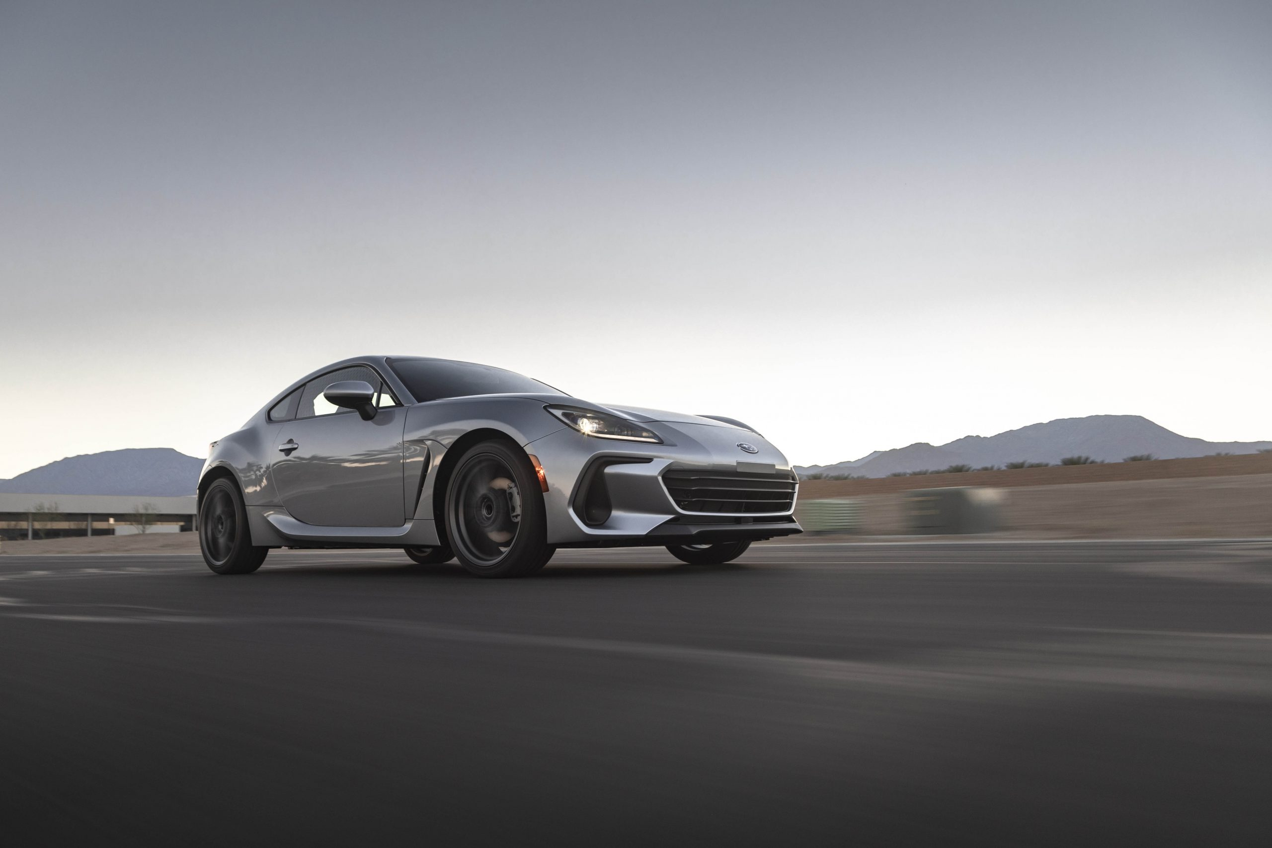 New 2022 Subaru BRZ front three-quarter track action