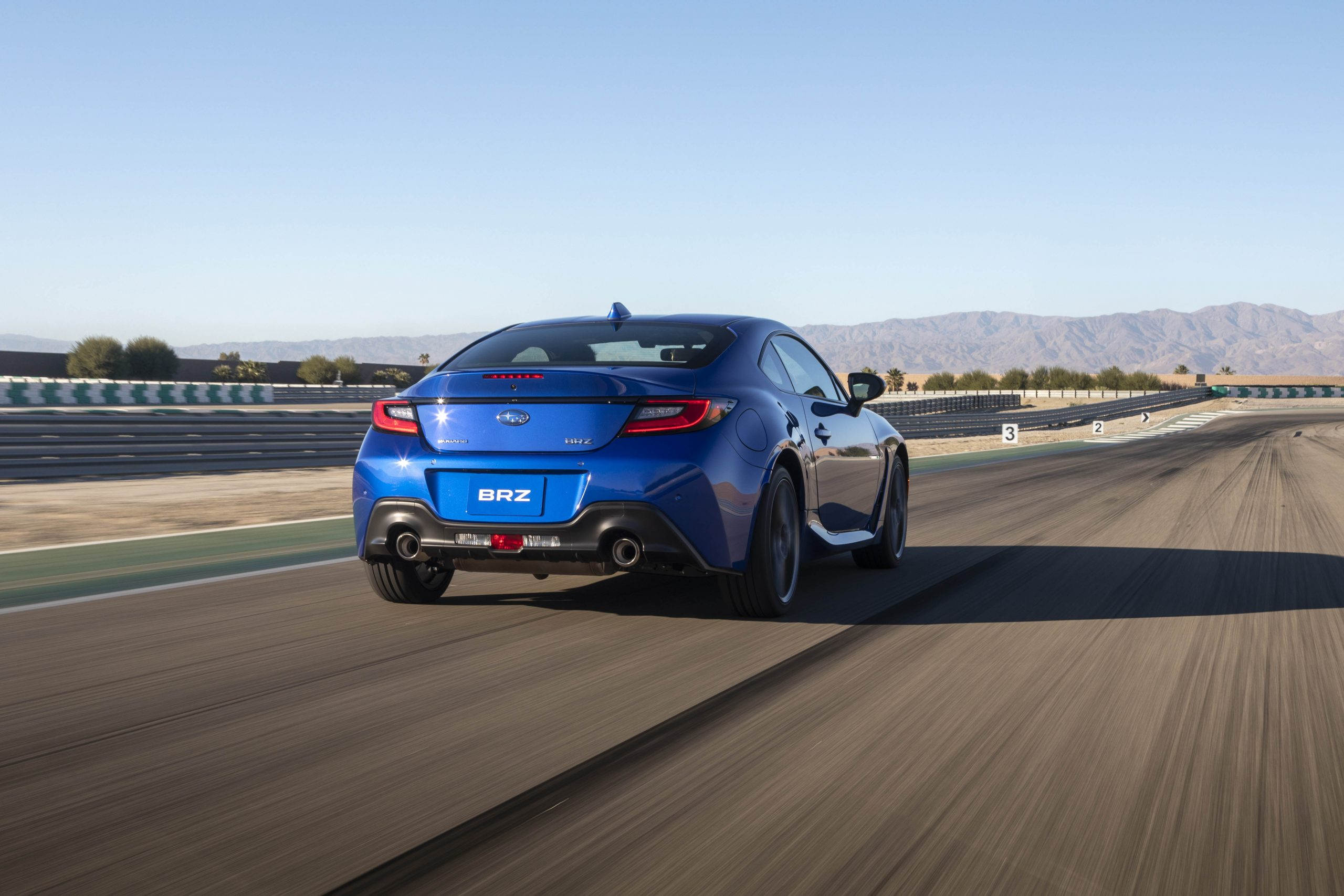 New 2022 Subaru BRZ rear three-quarter track action