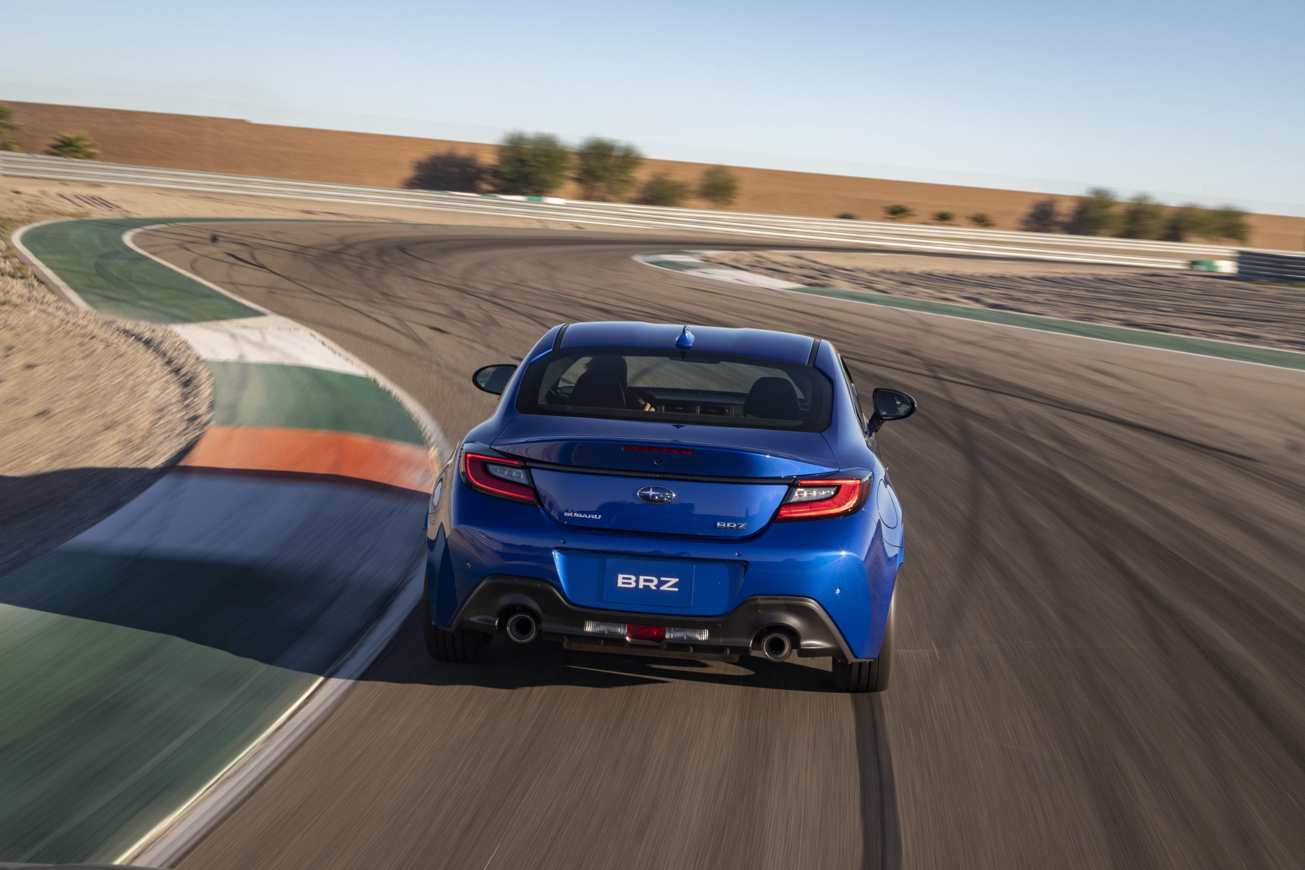 New 2022 Subaru BRZ rear track action