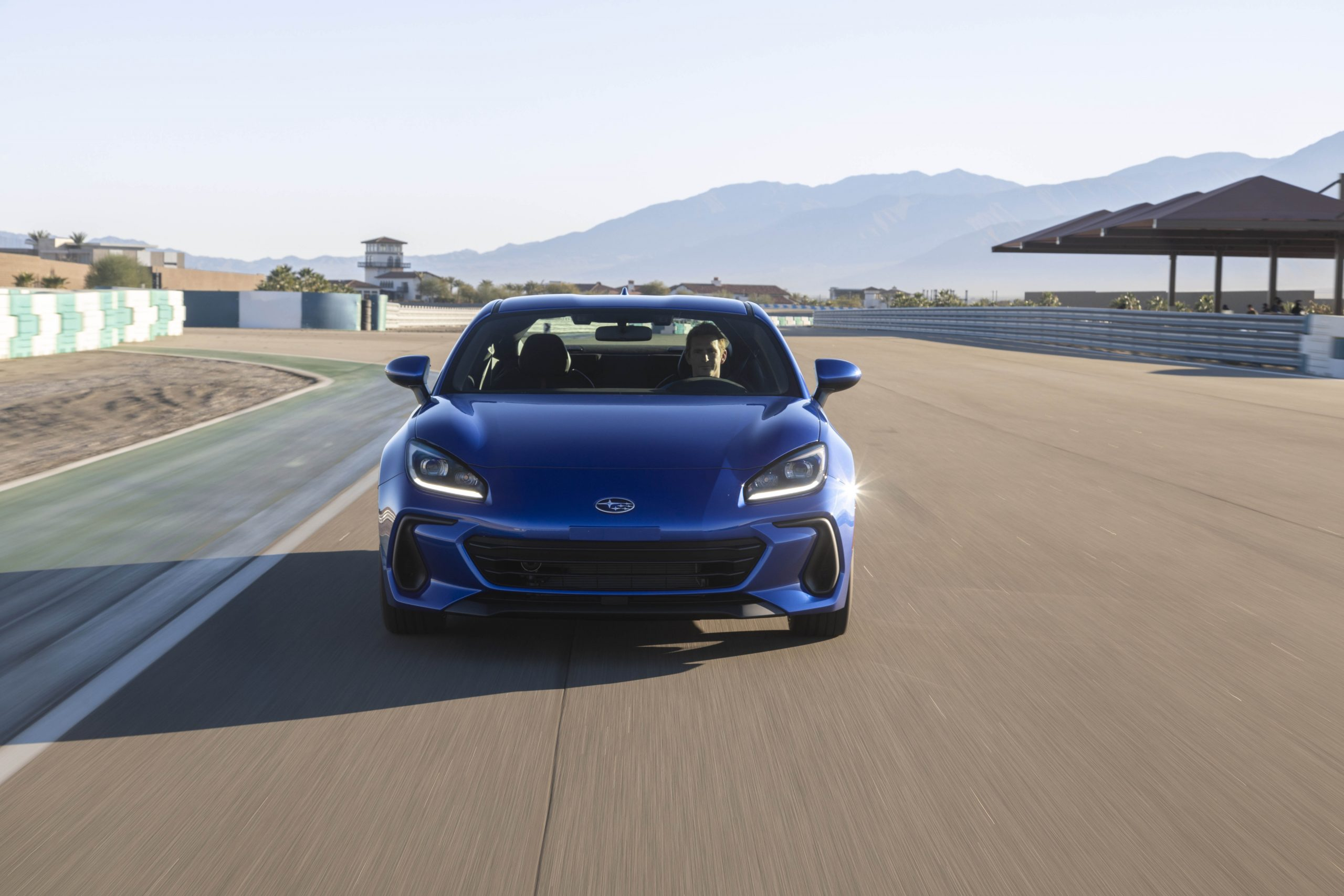 New 2022 Subaru BRZ front track action
