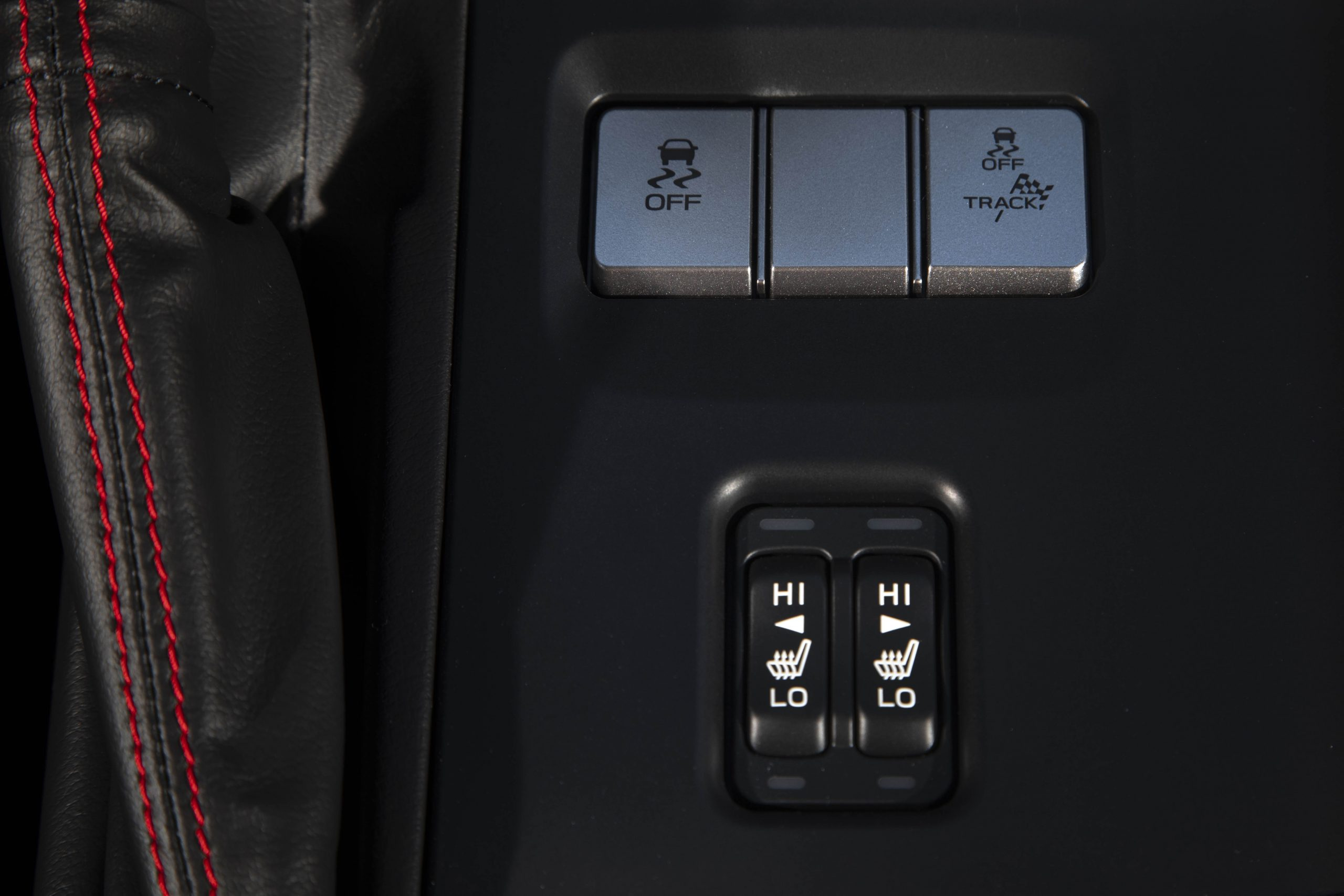 New 2022 Subaru BRZ interior drive modes button