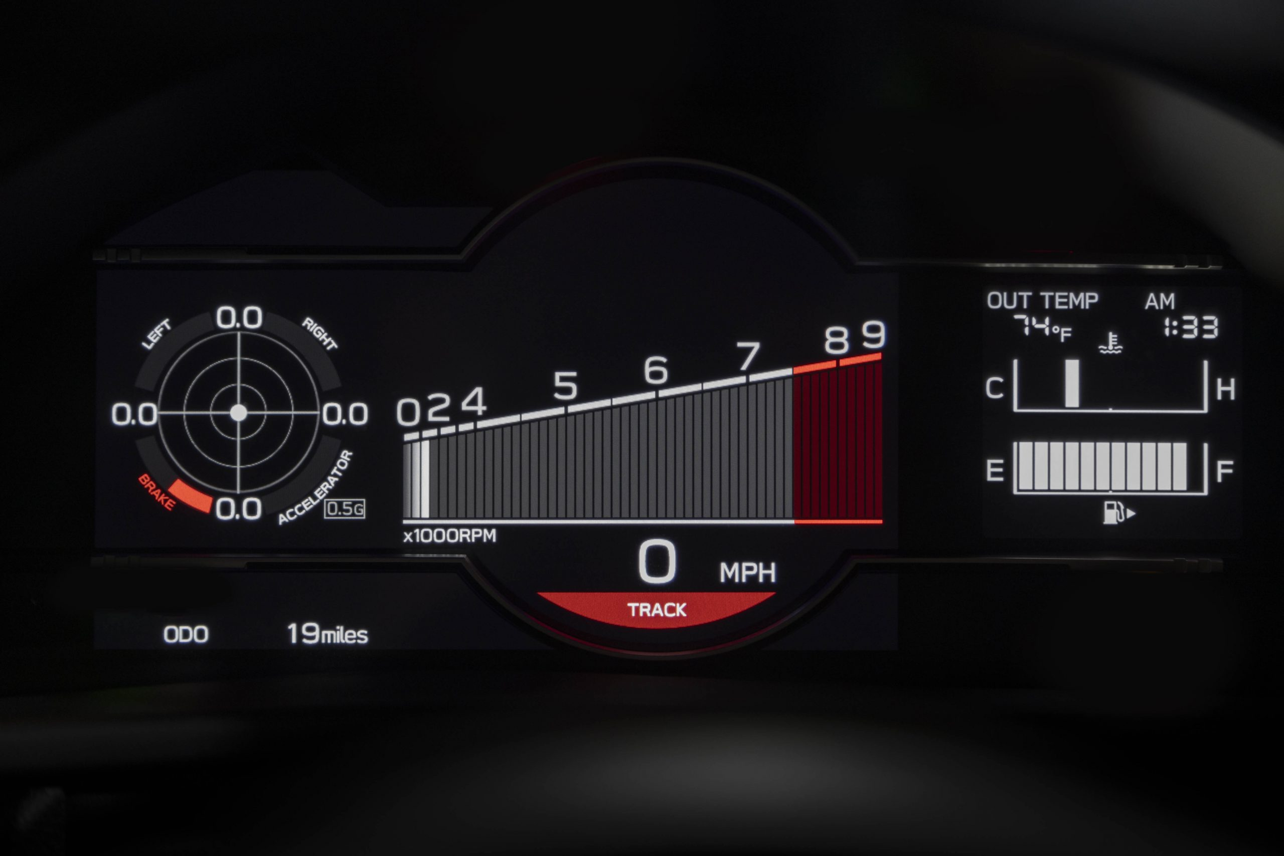 New 2022 Subaru BRZ tach digital guage