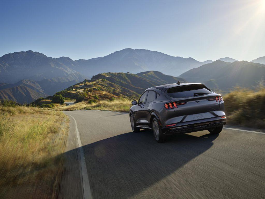 All-New Mustang Mach-E rear three-quarter