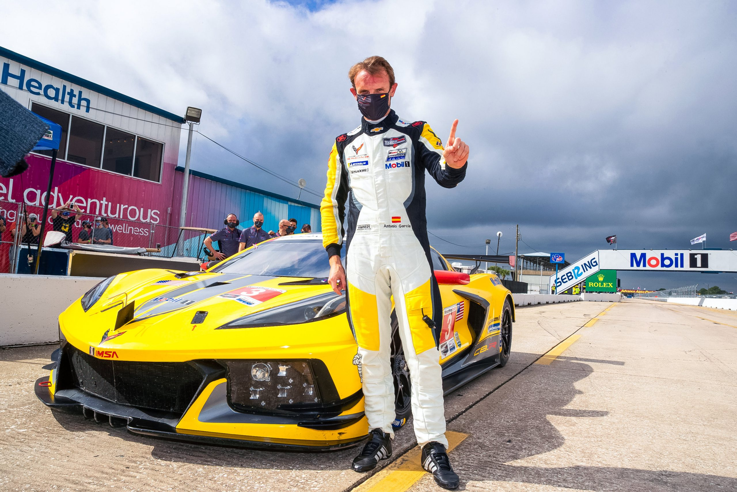 Antonio Garcia driver with corvette c8r