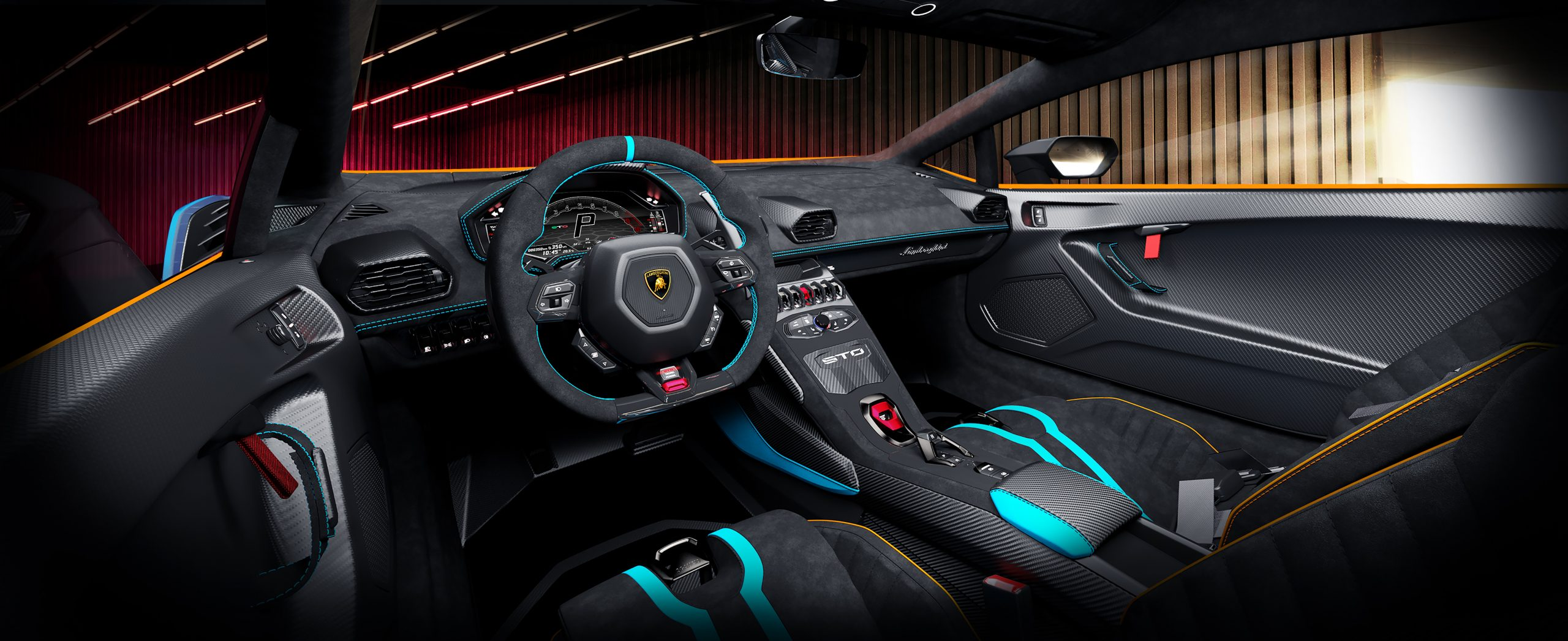 Lamborghini Huracan STO interior garage