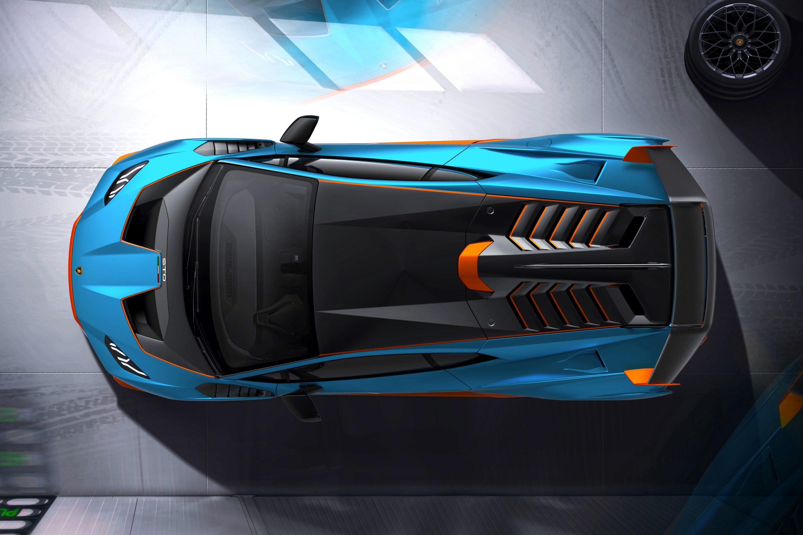 Lamborghini Huracan STO overhead garage 3