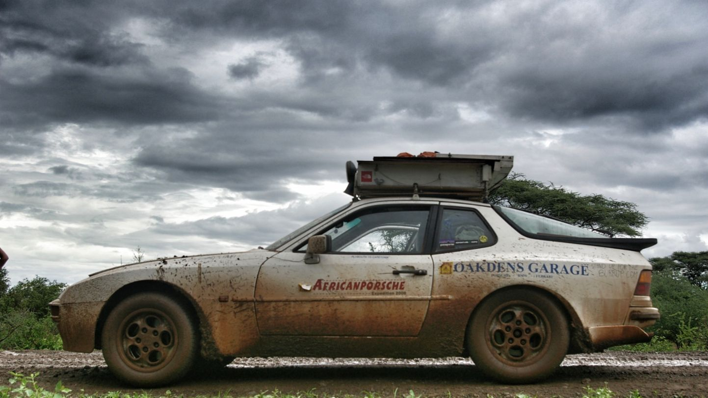 Africa Porsche 944 dirty side profile