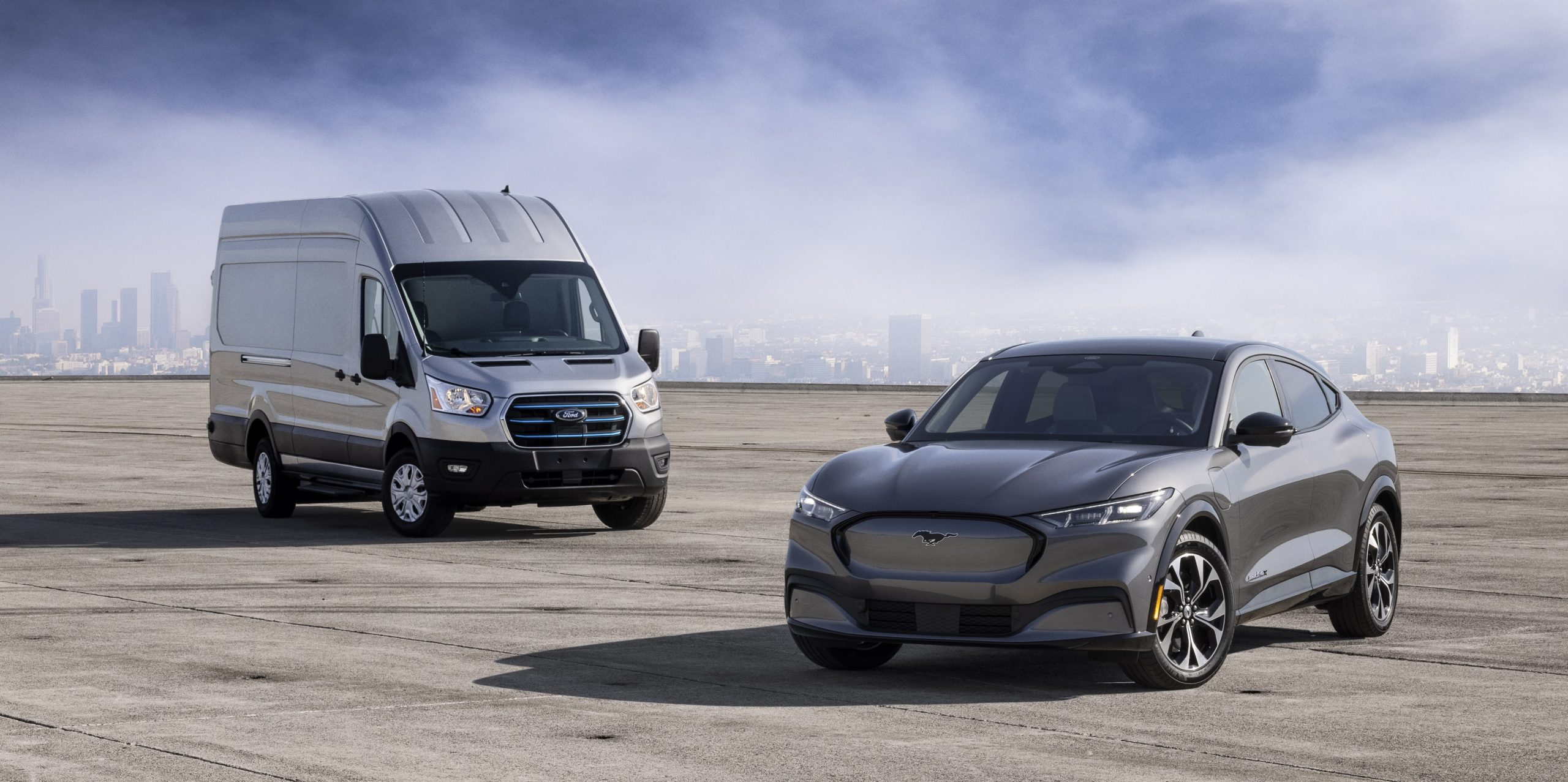 All-New Ford E-Transit and Mustang Mach-E