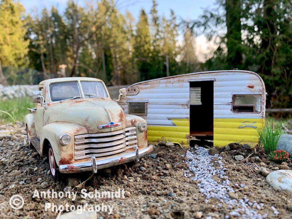 Anthony Schmidt vintage chevrolet pickup and camper van