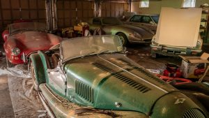 Moving a Ferrari and a Cobra to get to a Triumph and Morgan Plus 8 | Barn Find Hunter – Ep. 91