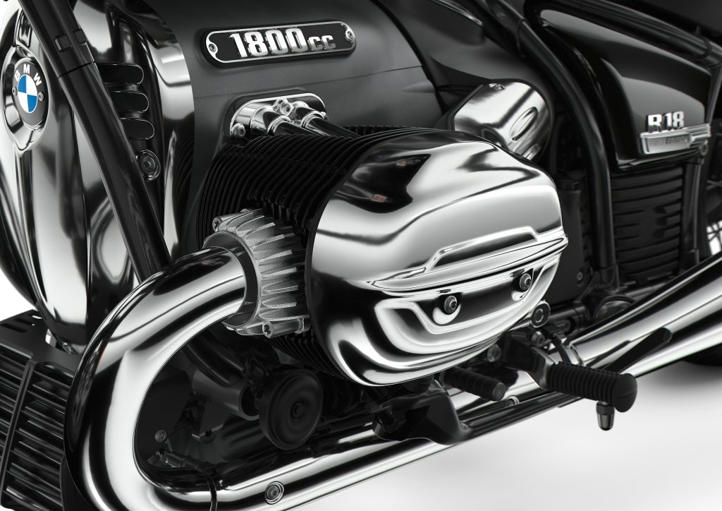 BMW R18 boxer engine detail