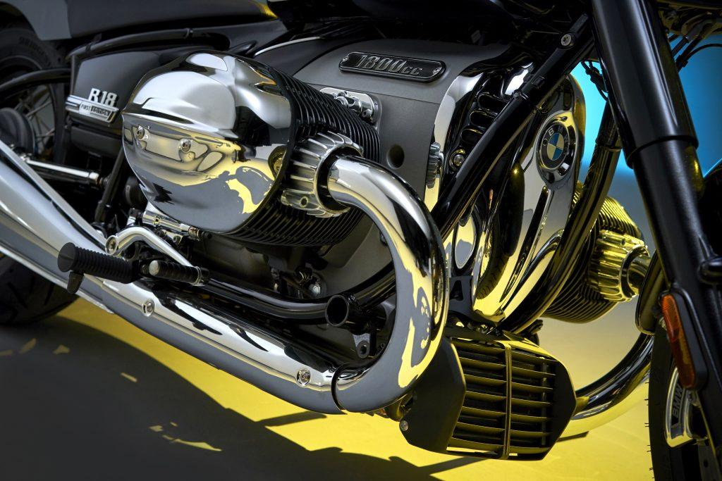 BMW R18 air oil cooler close up