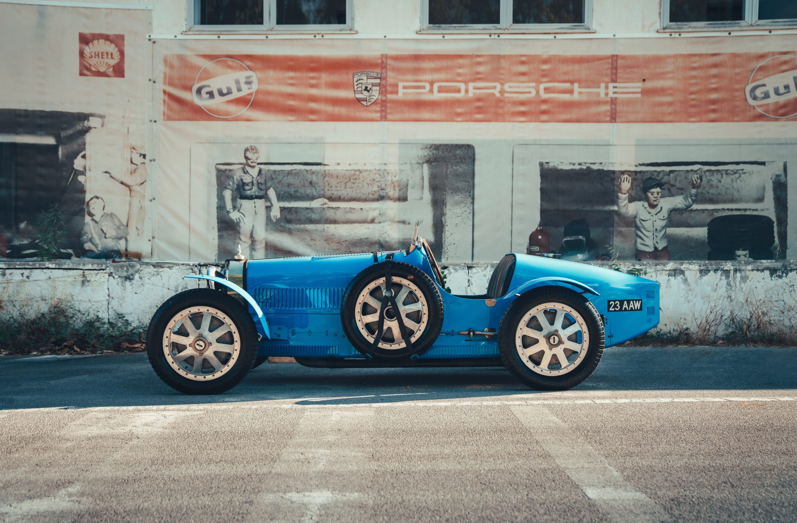 Bugatti Type 35C side profile