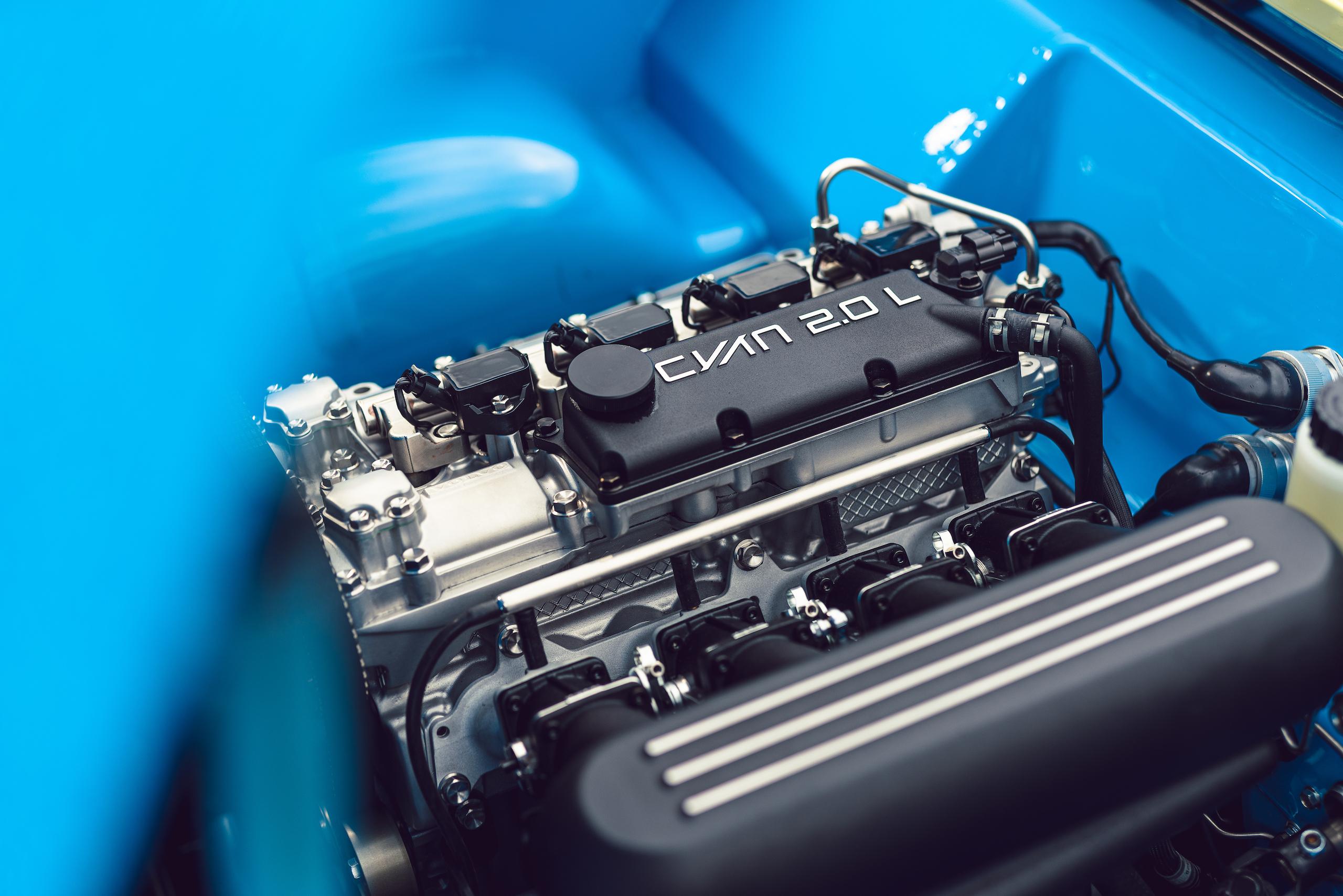 CYAN RACING P1800 engine detail
