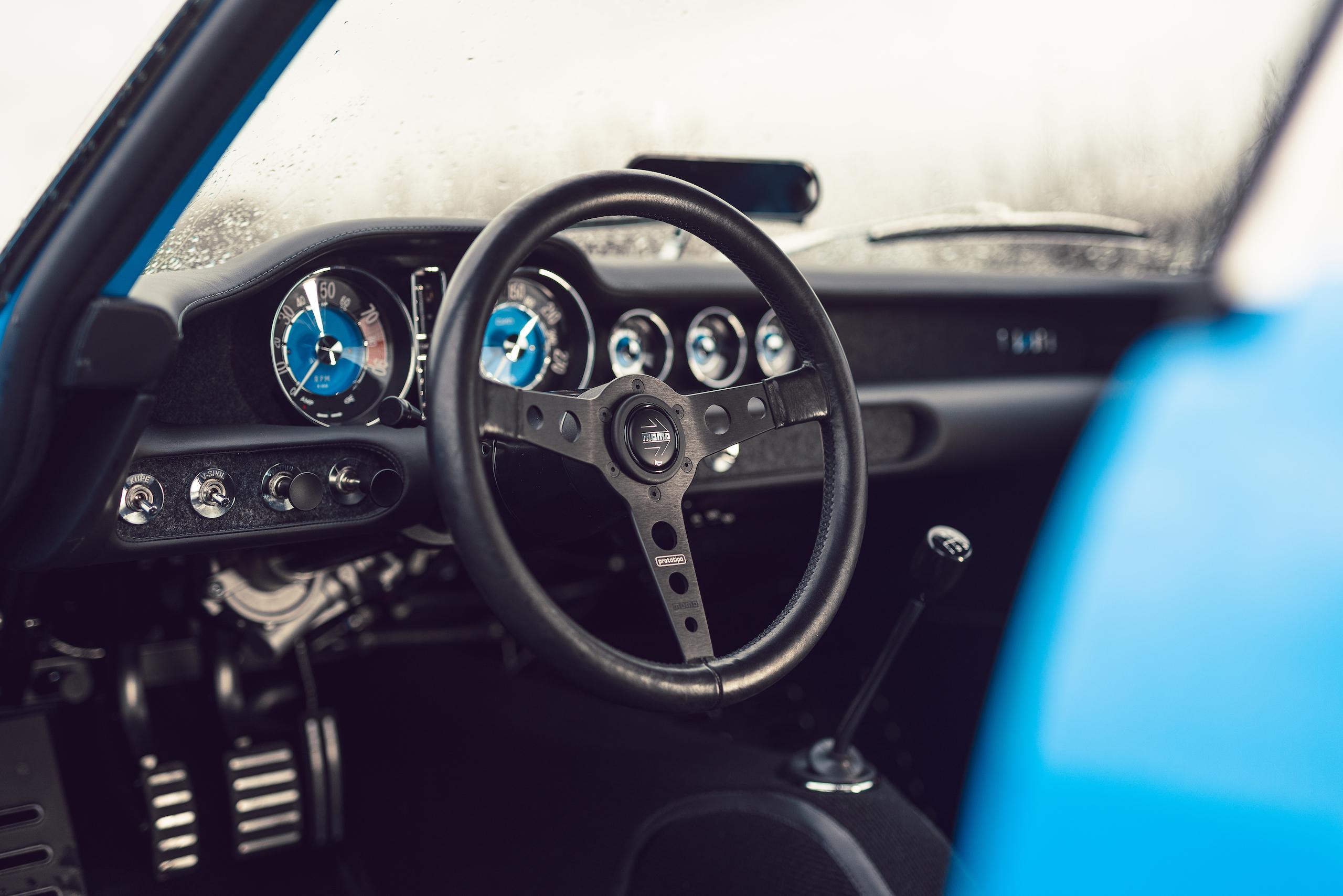 CYAN RACING P1800 steering wheel detail