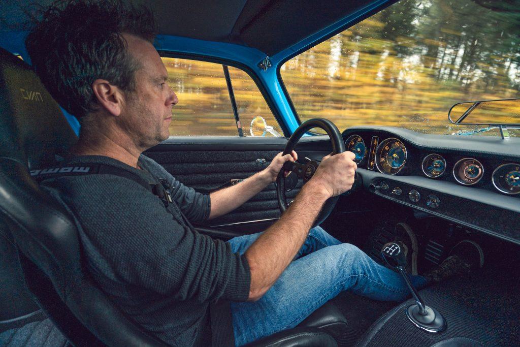 CYAN RACING P1800 interior driving action