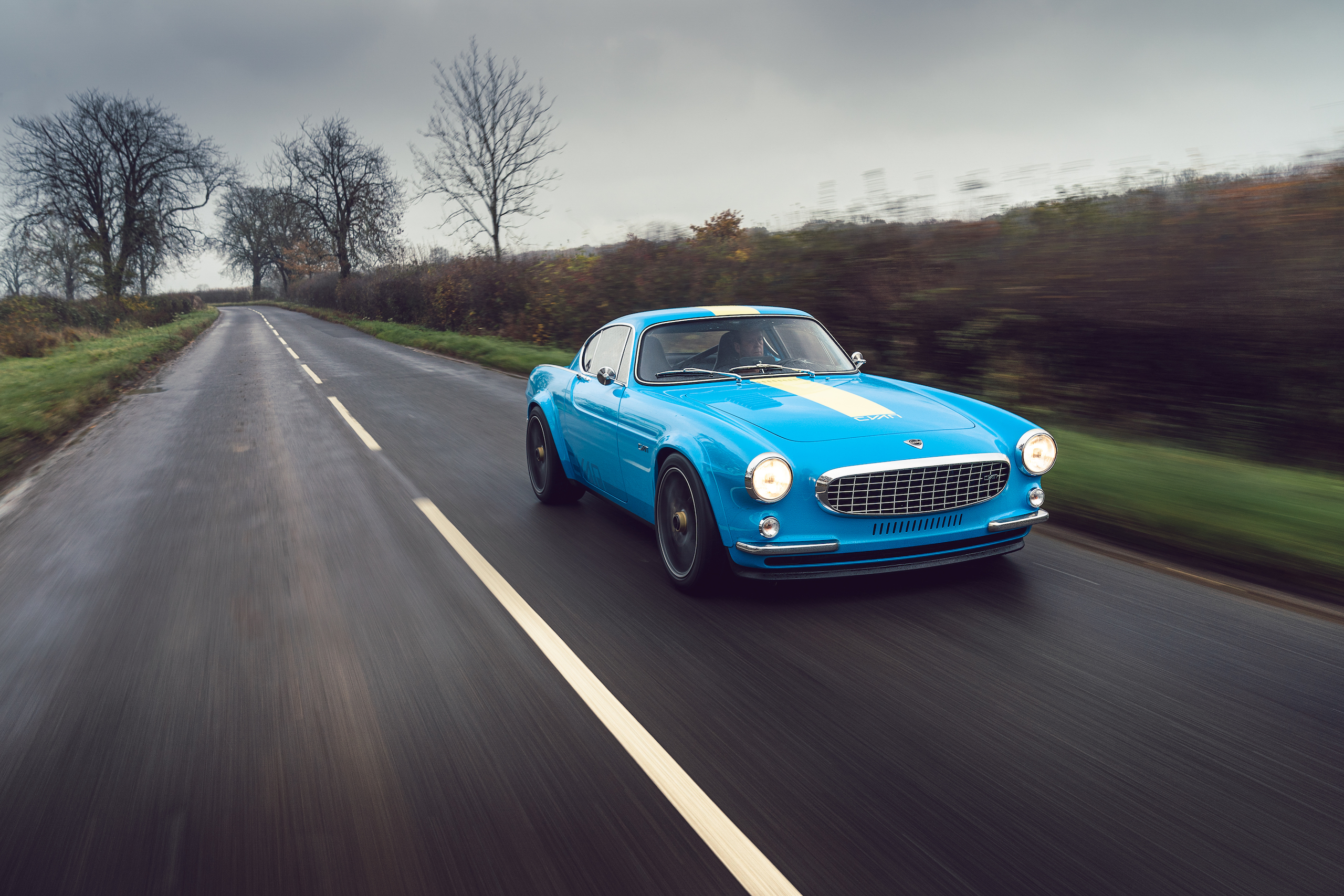 CYAN RACING P1800 front three-quarter dynamic action