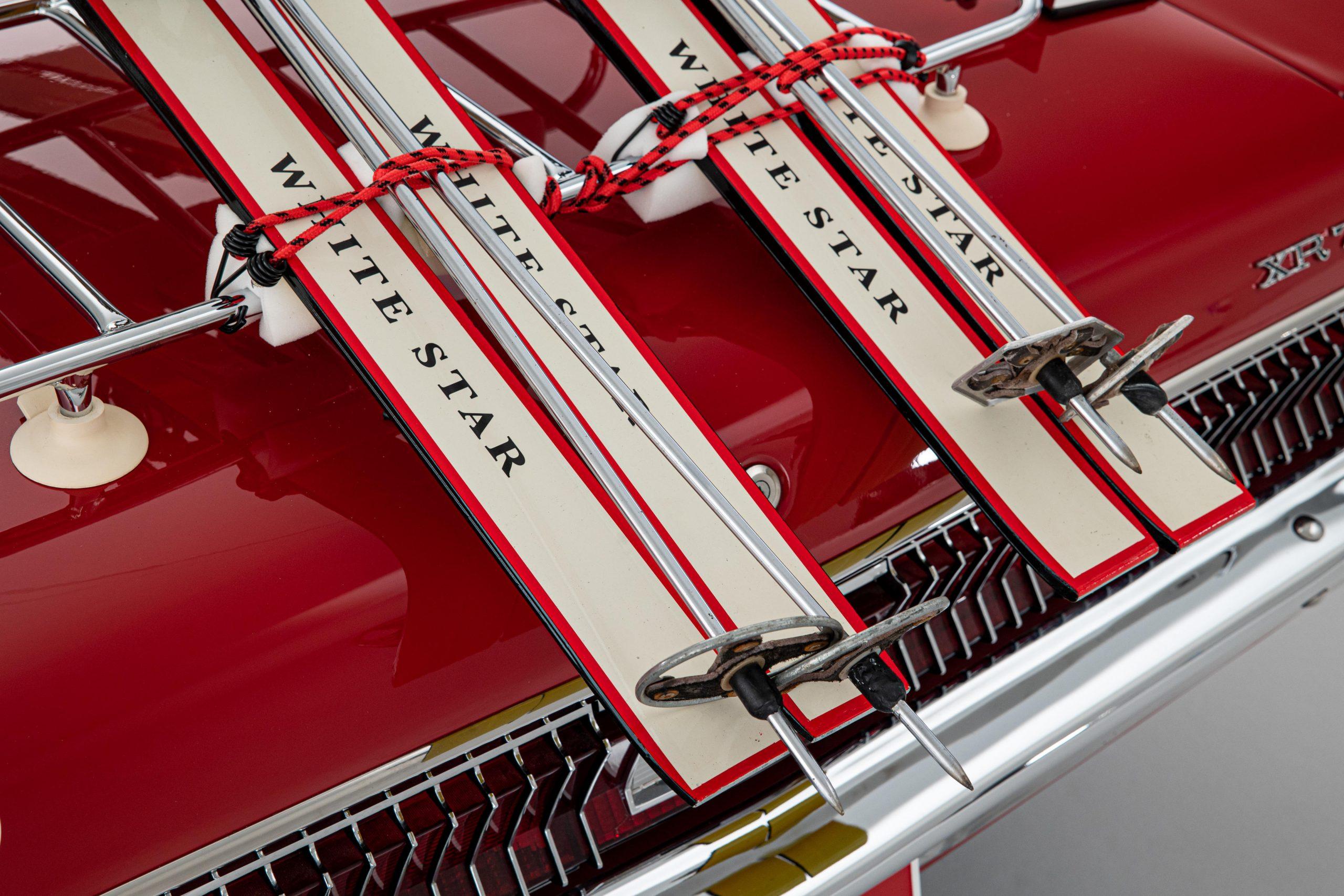 Mercury Cougar Convertible rear skis close up