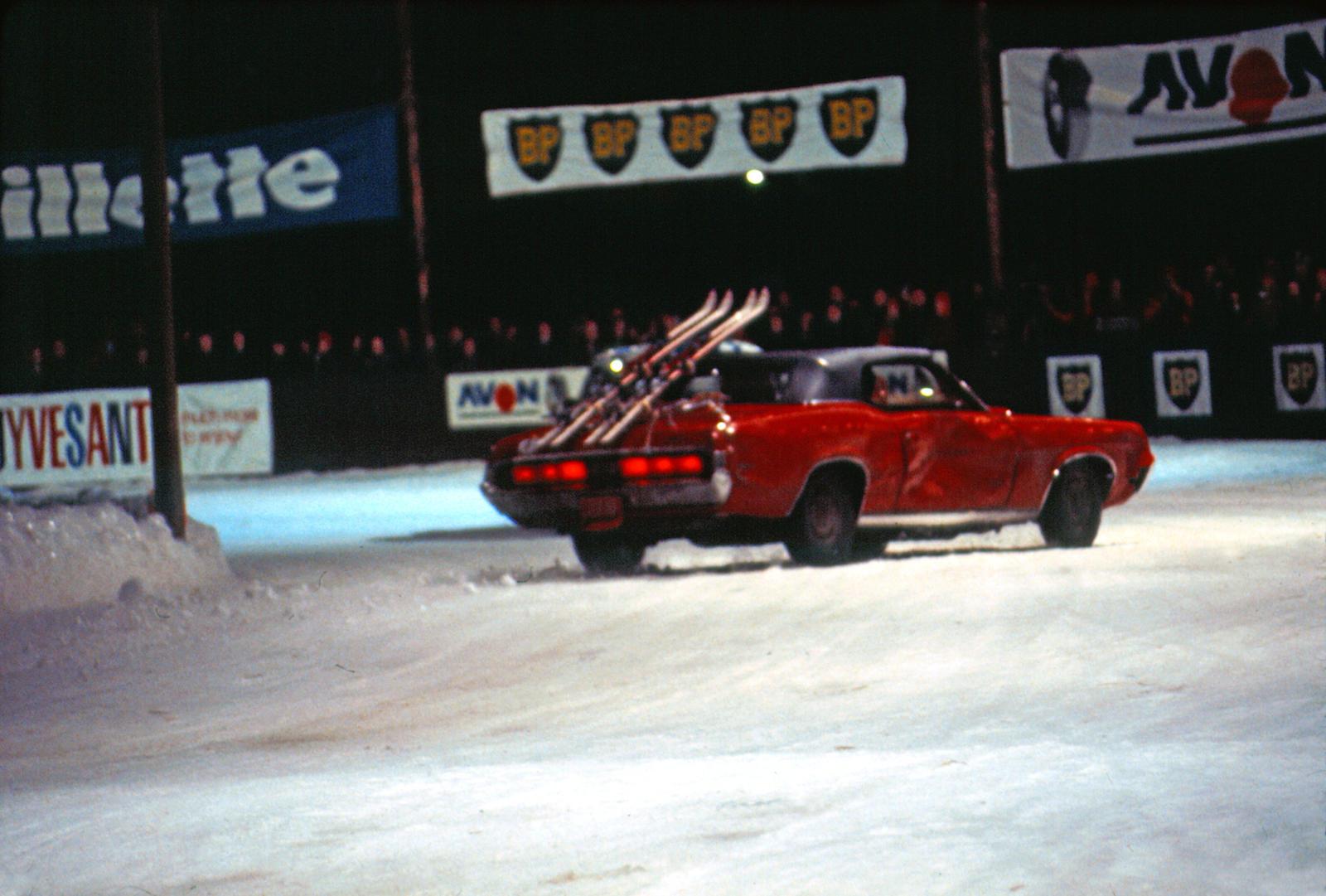 Mercury Cougar Convertible rear three-quarter drift action