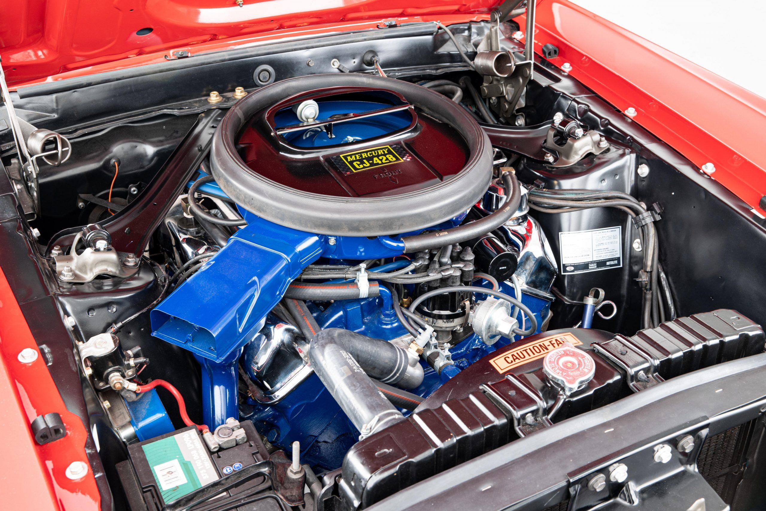Mercury Cougar Convertible engine detail