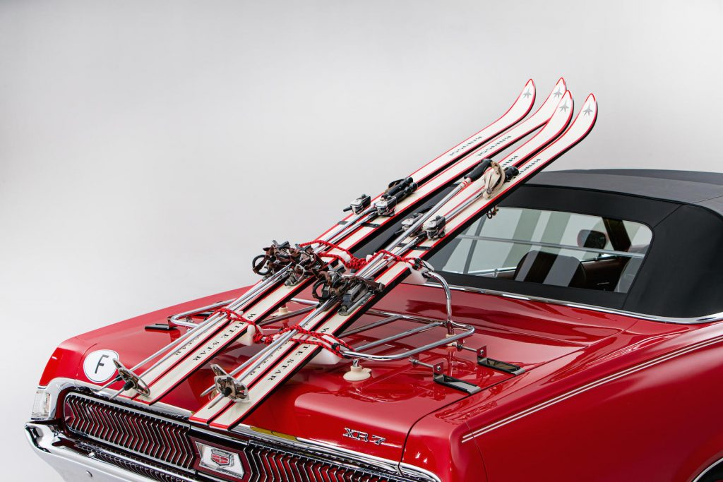 Mercury Cougar Convertible skis detail