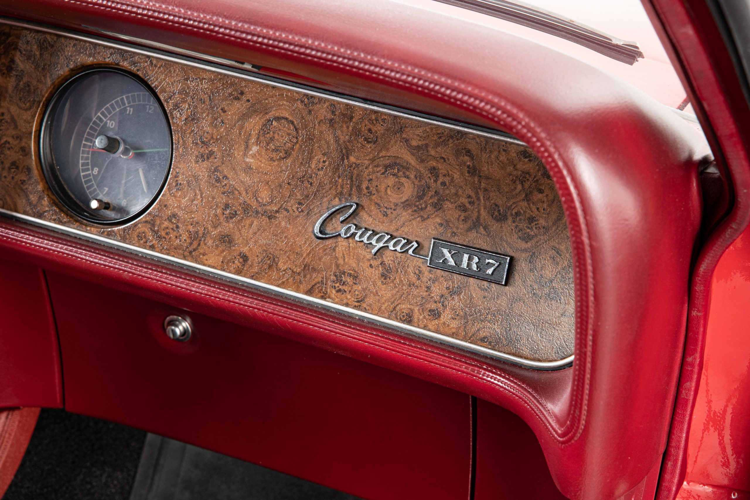 Mercury Cougar Convertible dash lettering detail