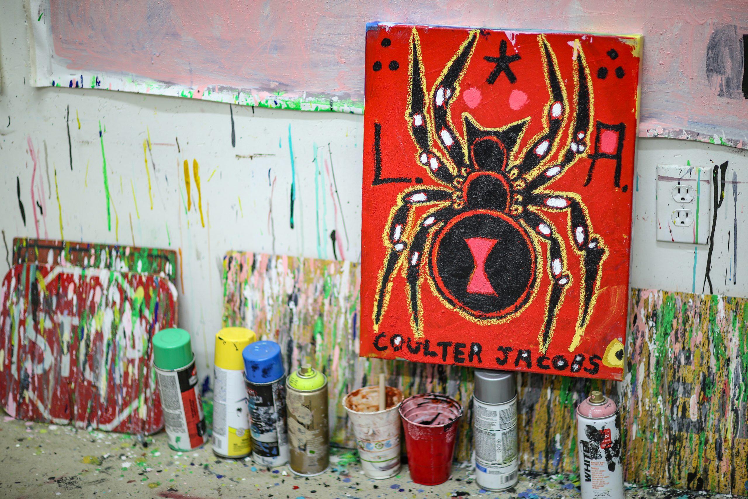 Coulter Jacobs studio artwork paint