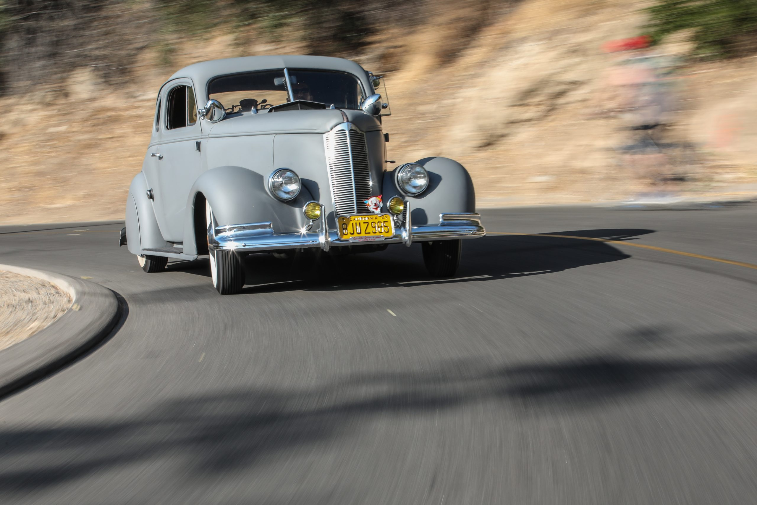 Coulter Jacobs grey hot rod front three-quarter