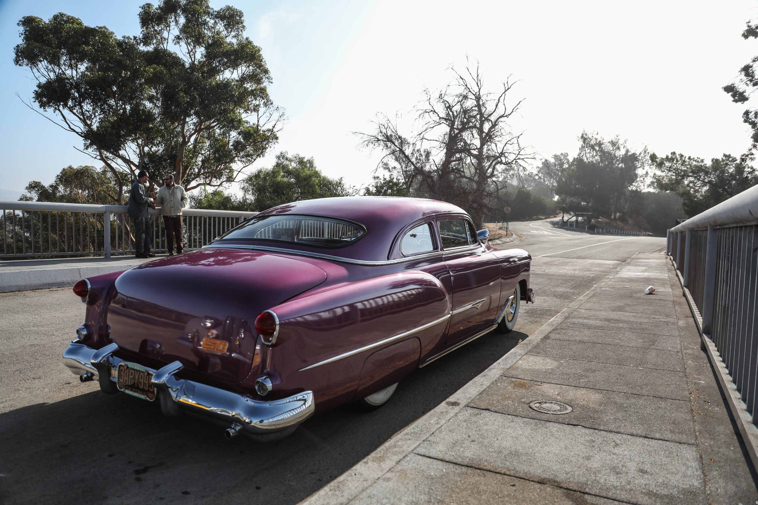 Coulter Jacobs purple hot rod rear three-quarter