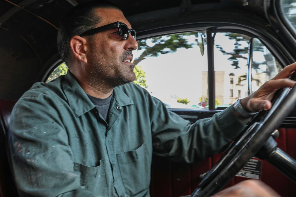 Coulter Jacobs driving hot rod