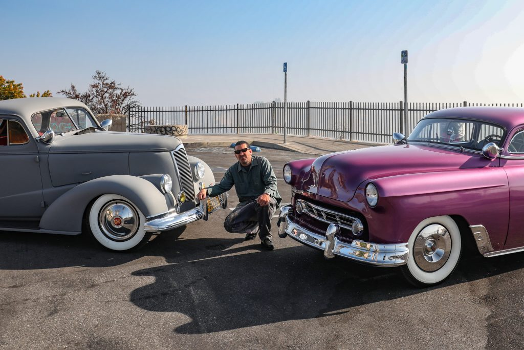 Coulter Jacobs with his hot rods