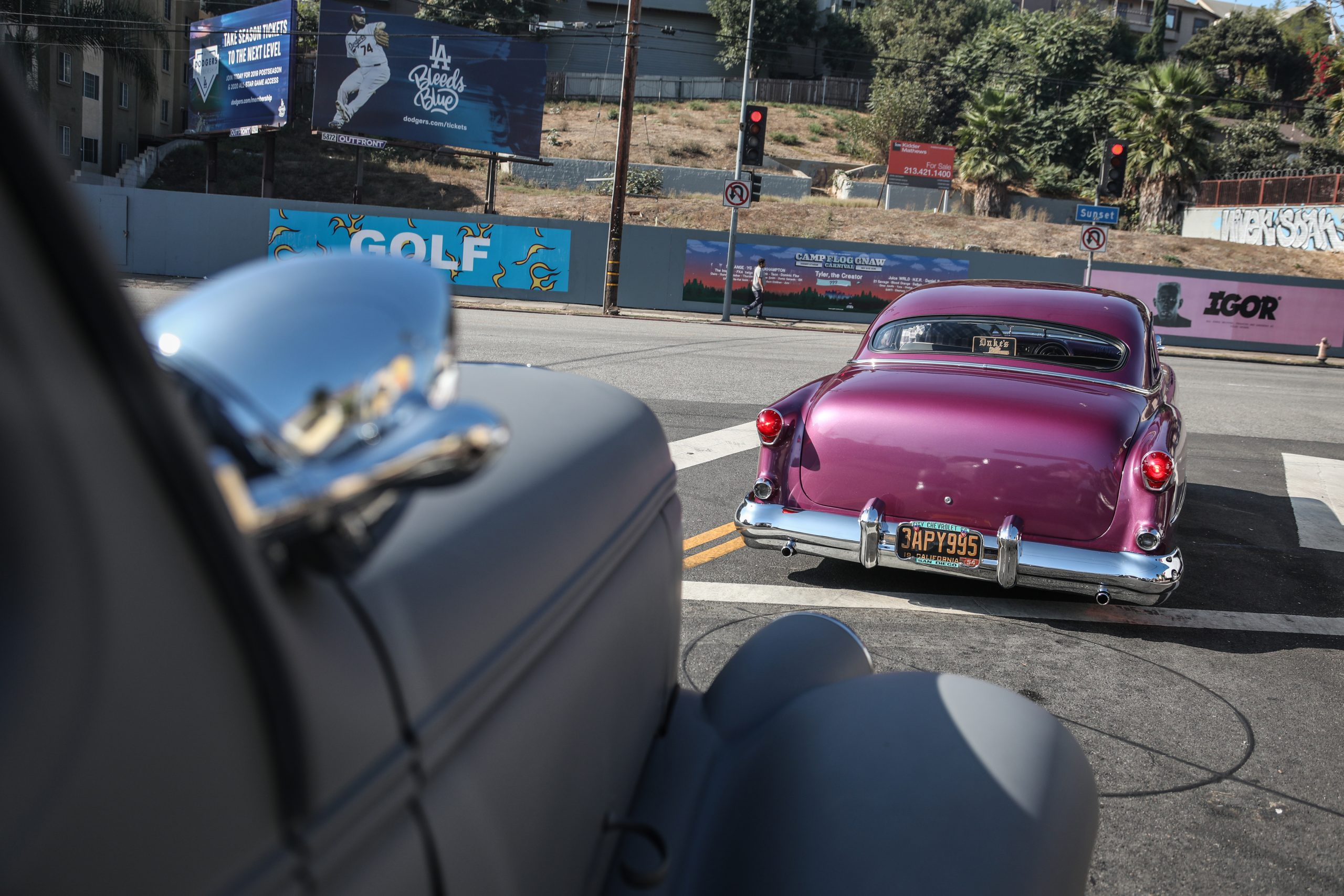 Coulter Jacobs purple hot rod rear