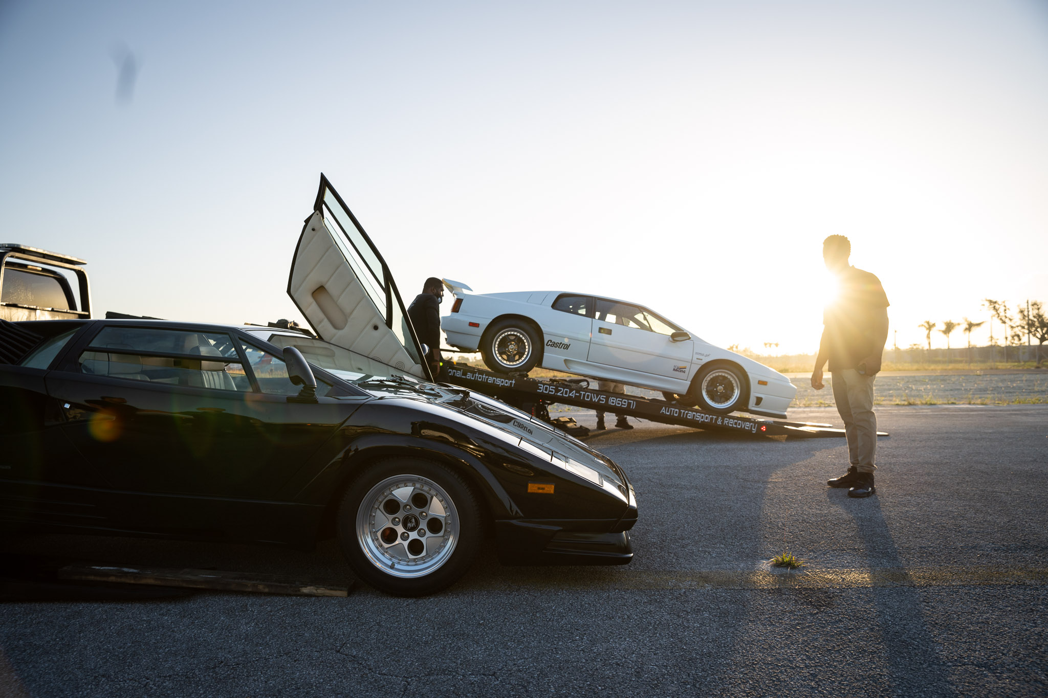 Lamborghini Countach with Lotus Esprit X180R side profiles