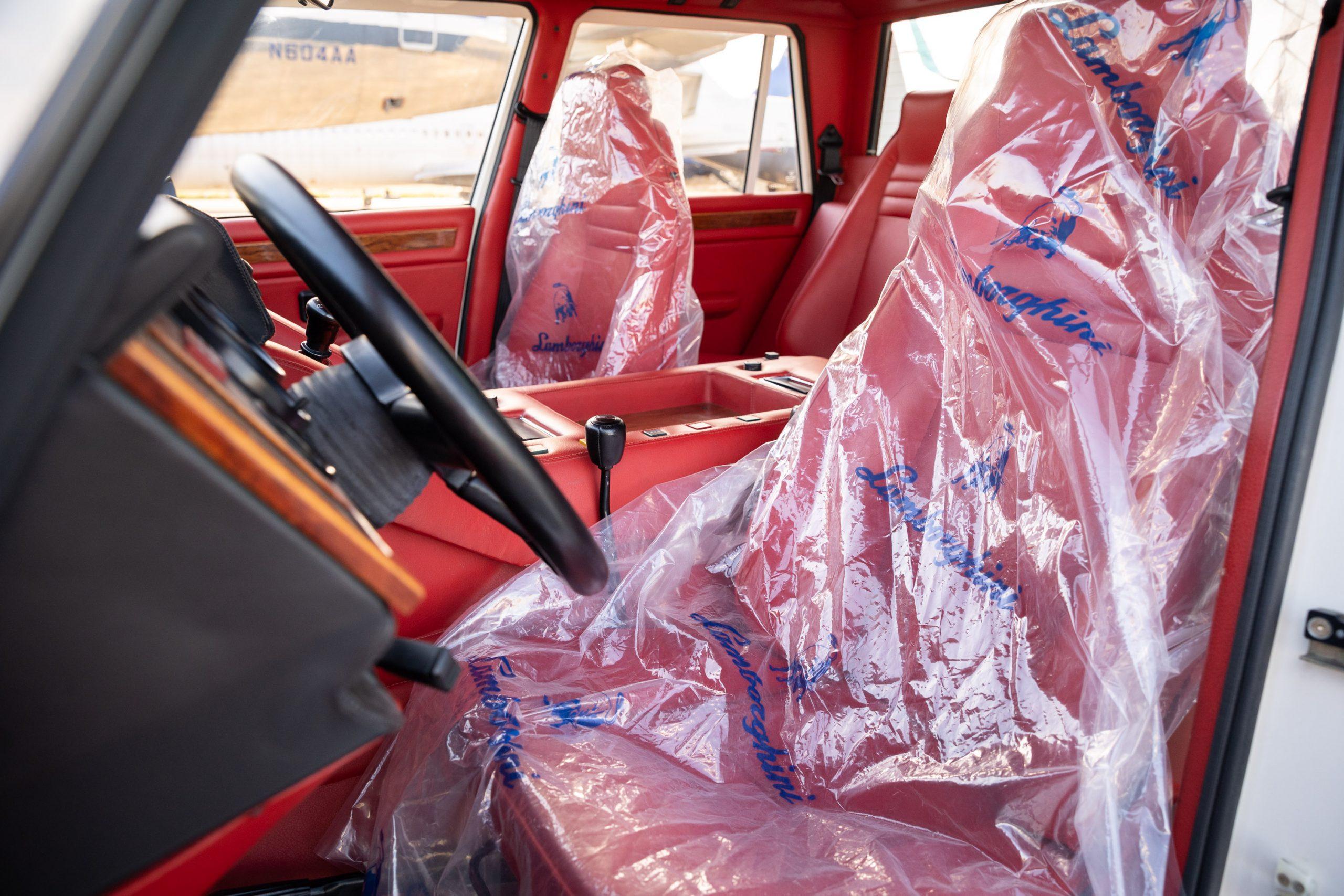 1990 Lamborghini LM American interior seats