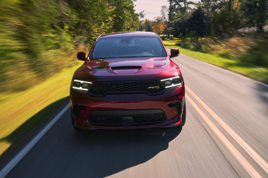 2021 Dodge Durango SRT Hellcat octane red front dynamic action