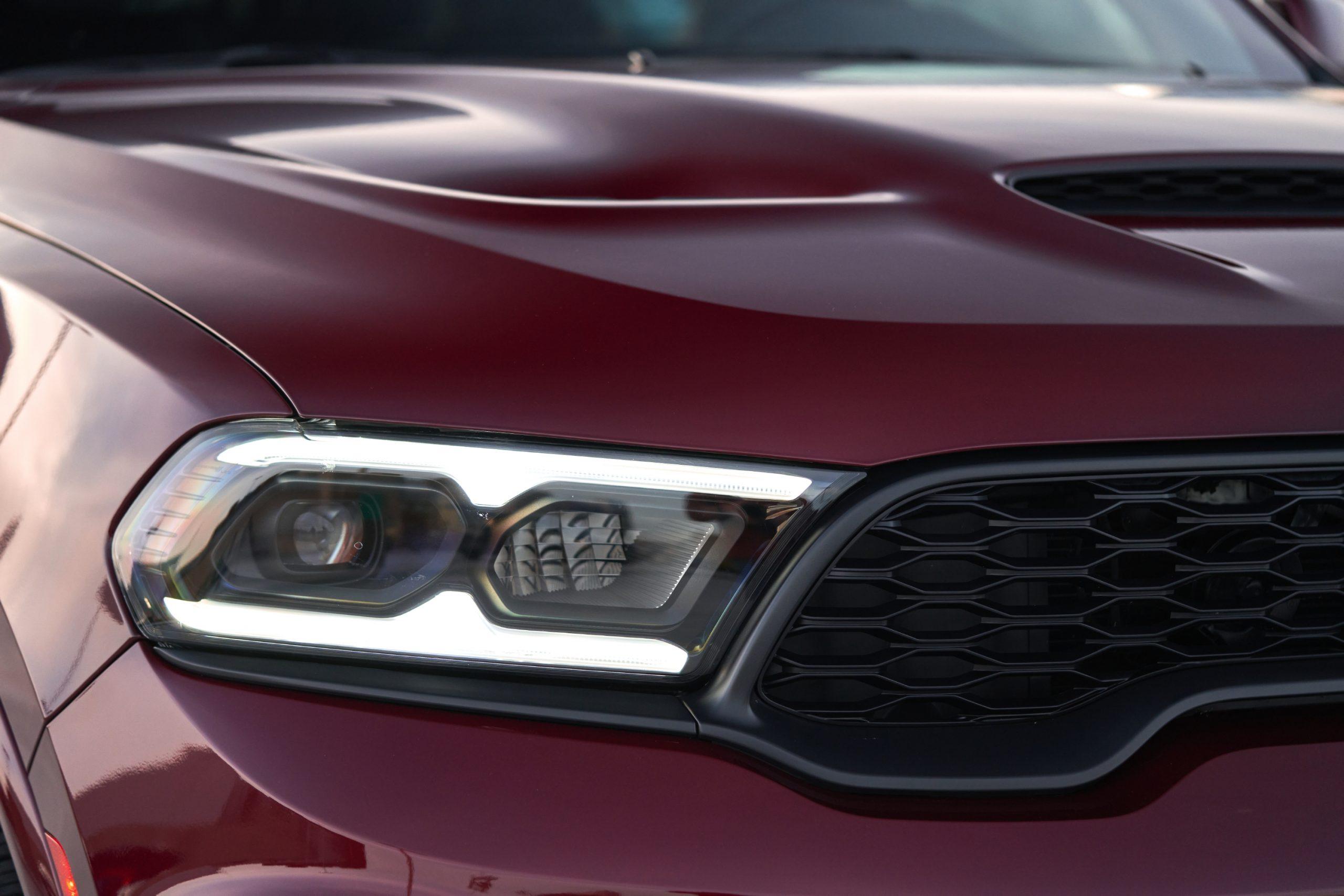 2021 Dodge Durango SRT Hellcat octane red headlight