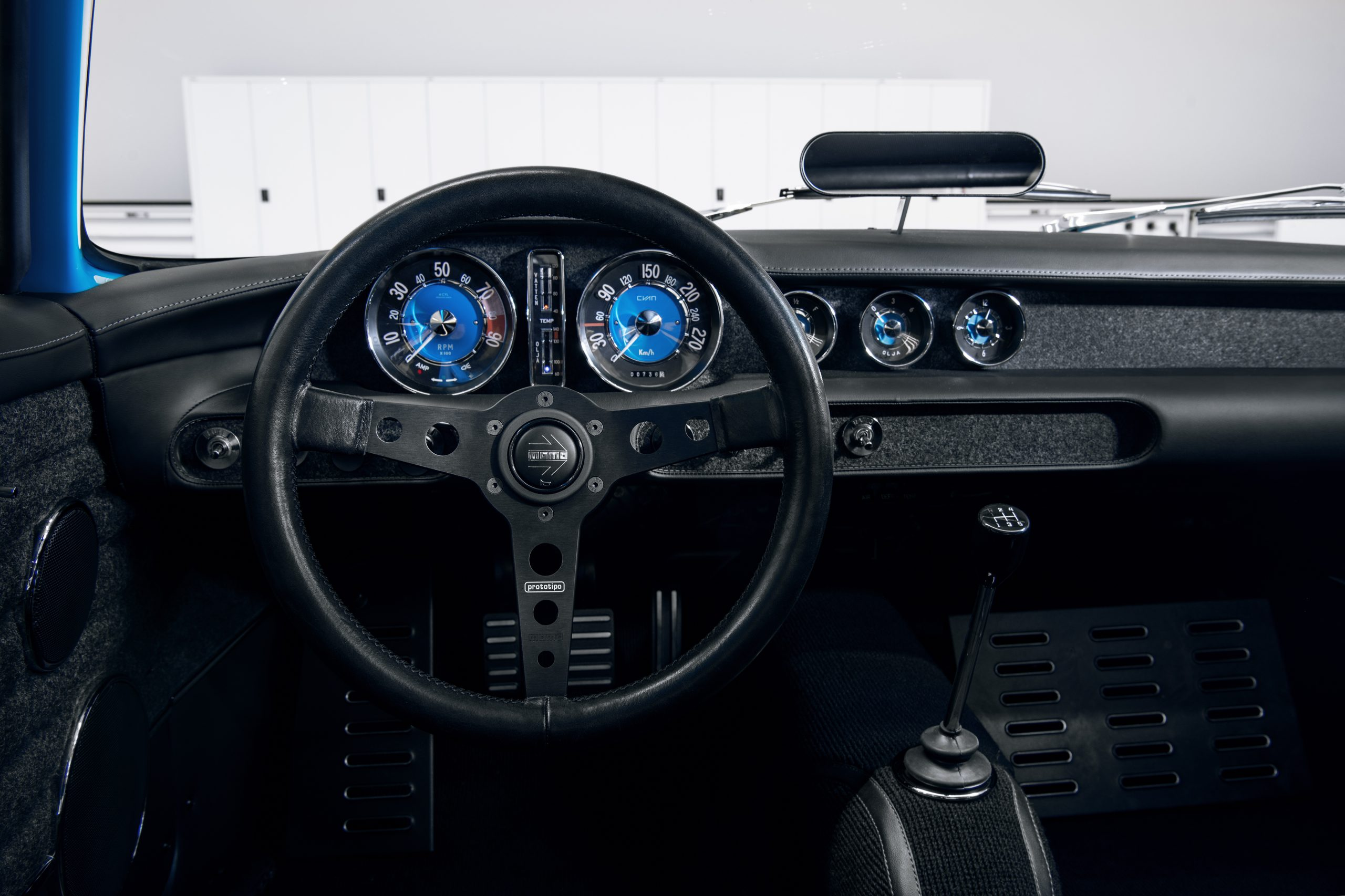 Cyan Racing Volvo P1800 interior