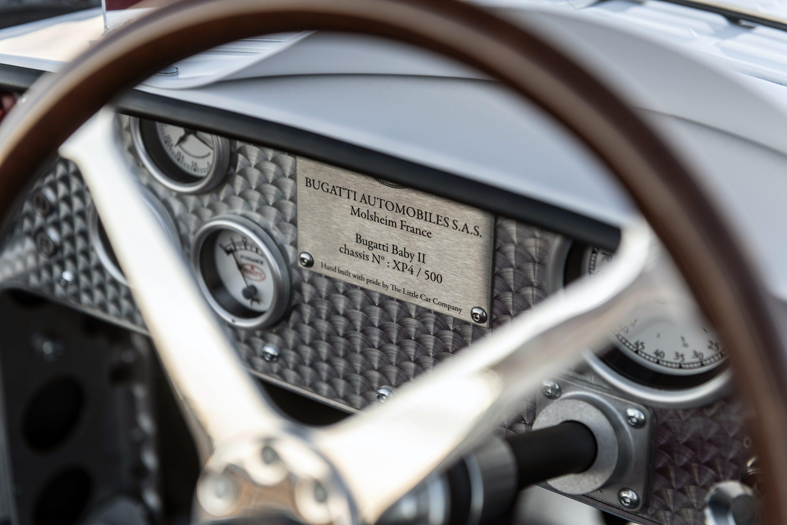Bugatti Baby II Dash detail plaque