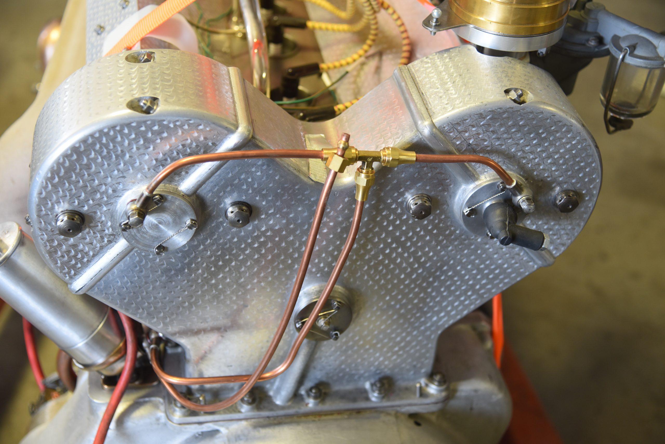3.3-liter Bugatti straight-eight line detail
