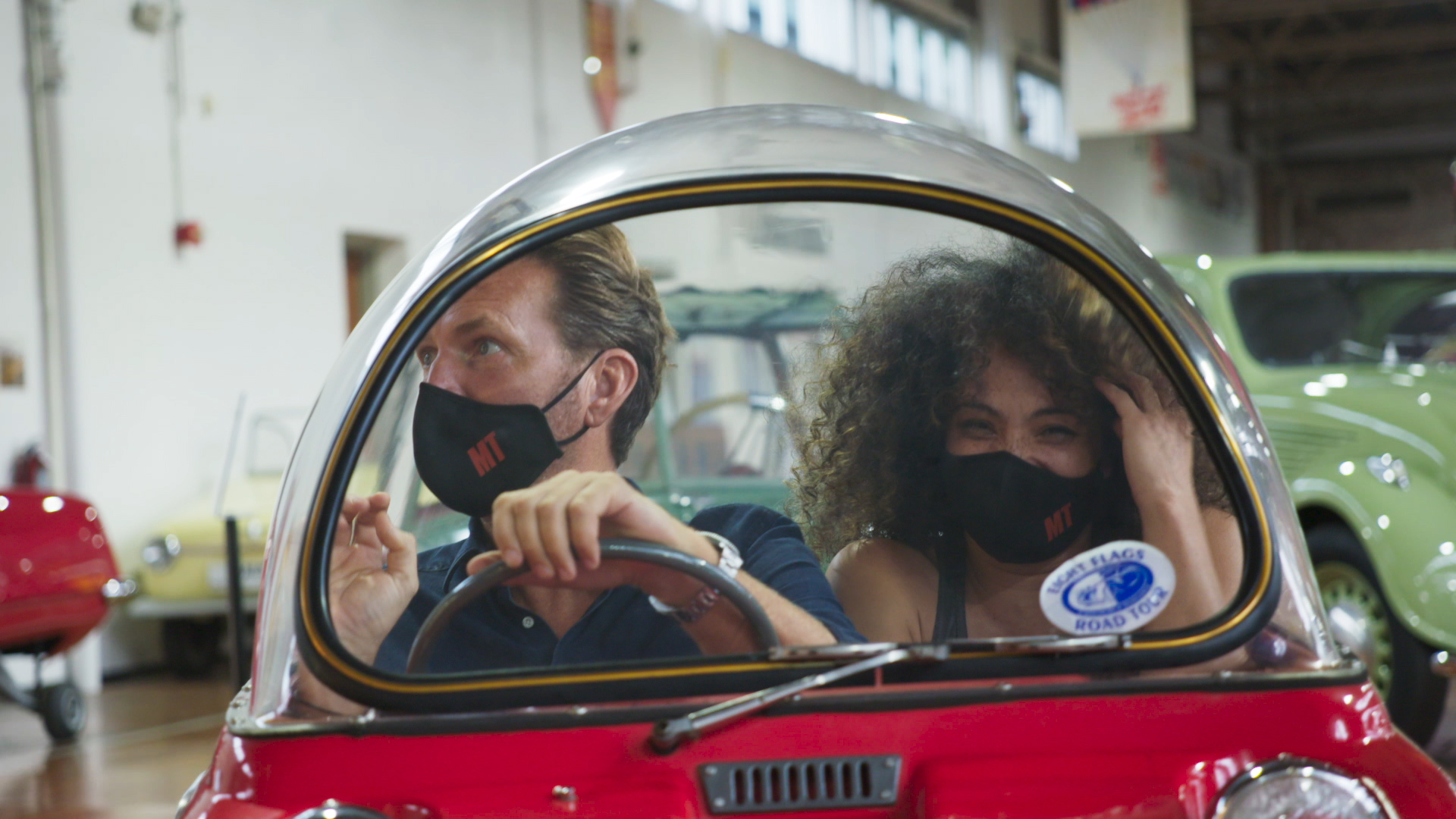 Drives Unexpected - Justin Bell - In a microcar