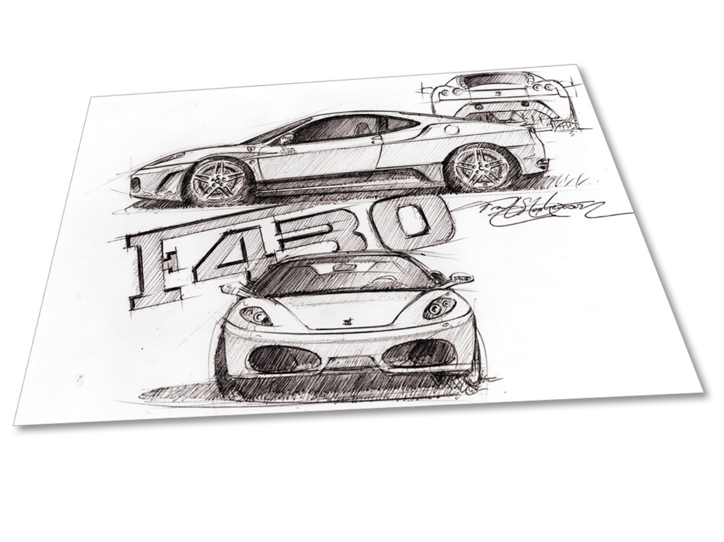 Maserati and McLaren designer is selling sketches for Christmas