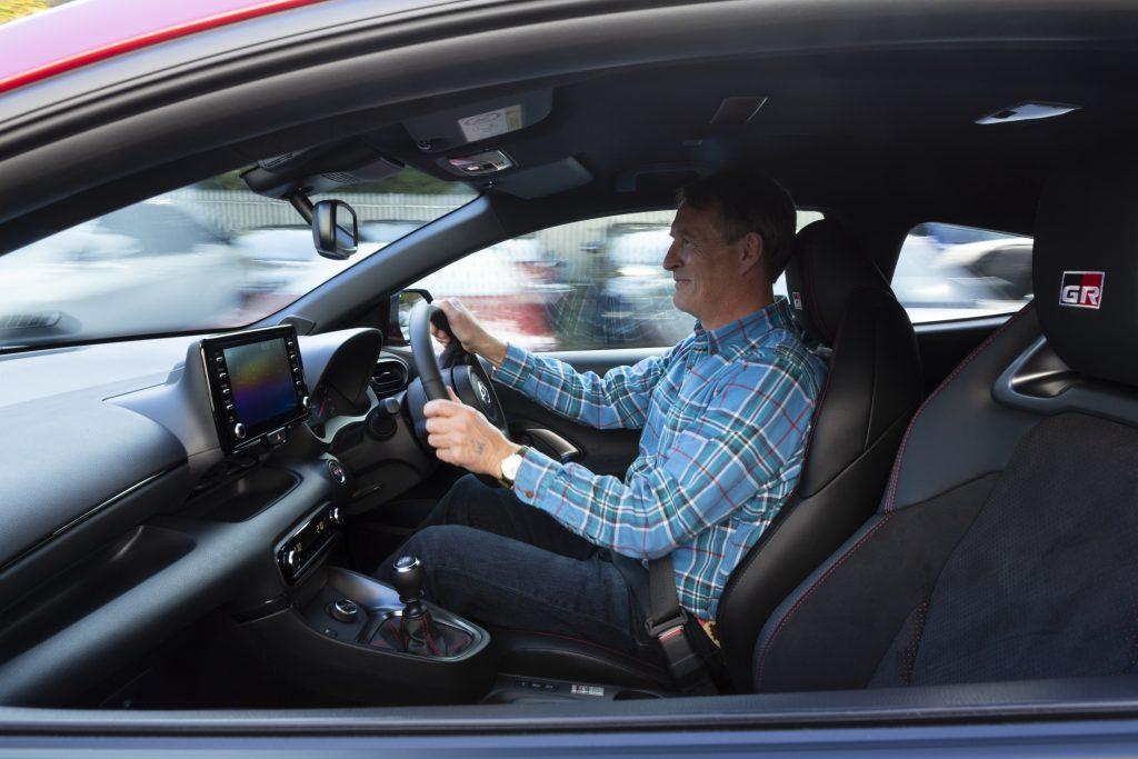 GR Toyota Yaris interior driving action