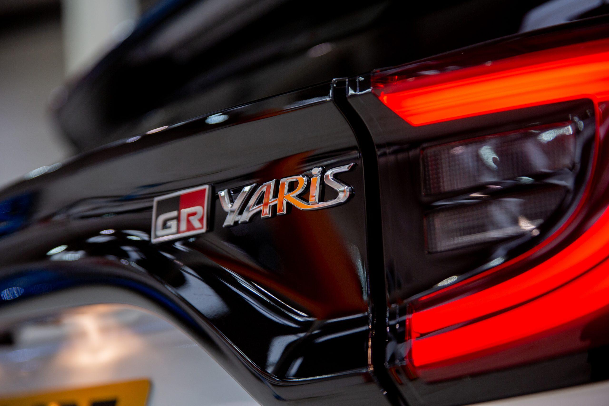 GR Toyota Yaris badging