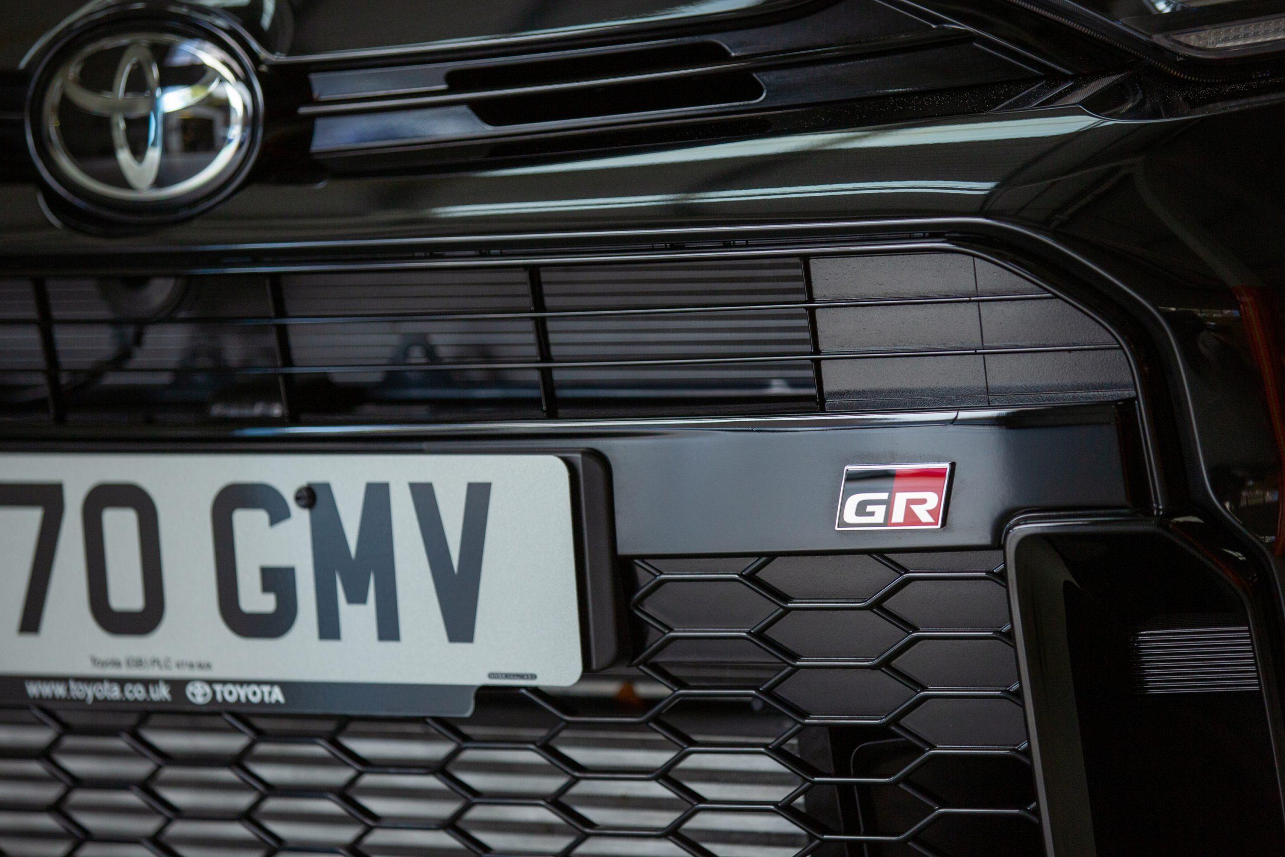 GR Toyota Yaris grille detail