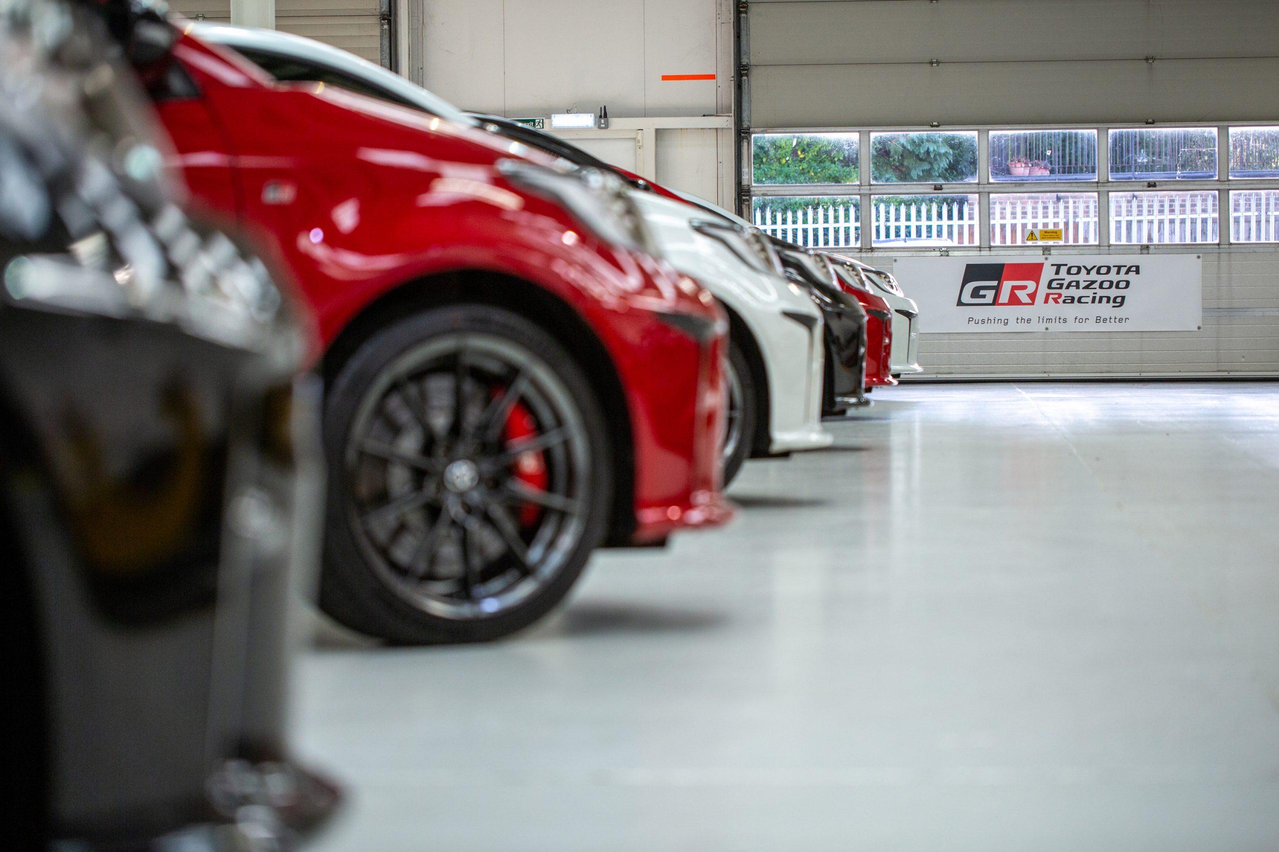 GR Toyota Yaris row of cars
