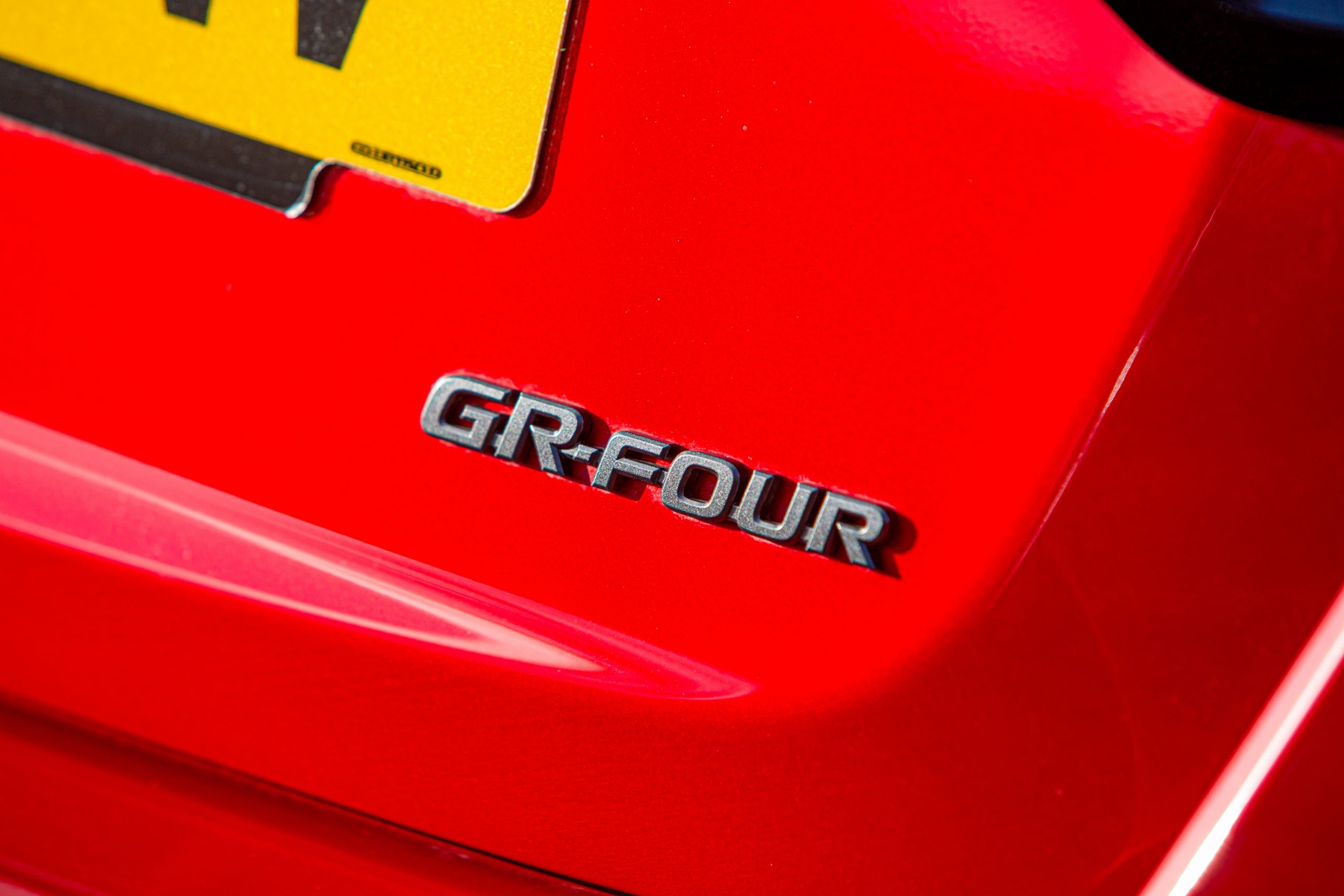 GR Toyota Yaris badge
